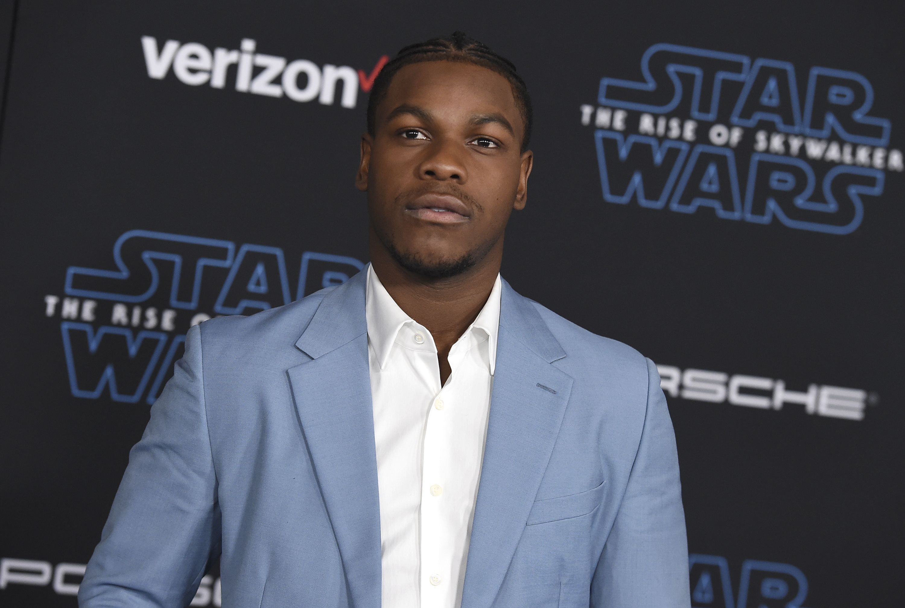 In this  Monday, Dec. 16, 2019 file photo, John Boyega arrives at the world premiere of  Star Wars: The Rise of Skywalker  in Los Angeles.
