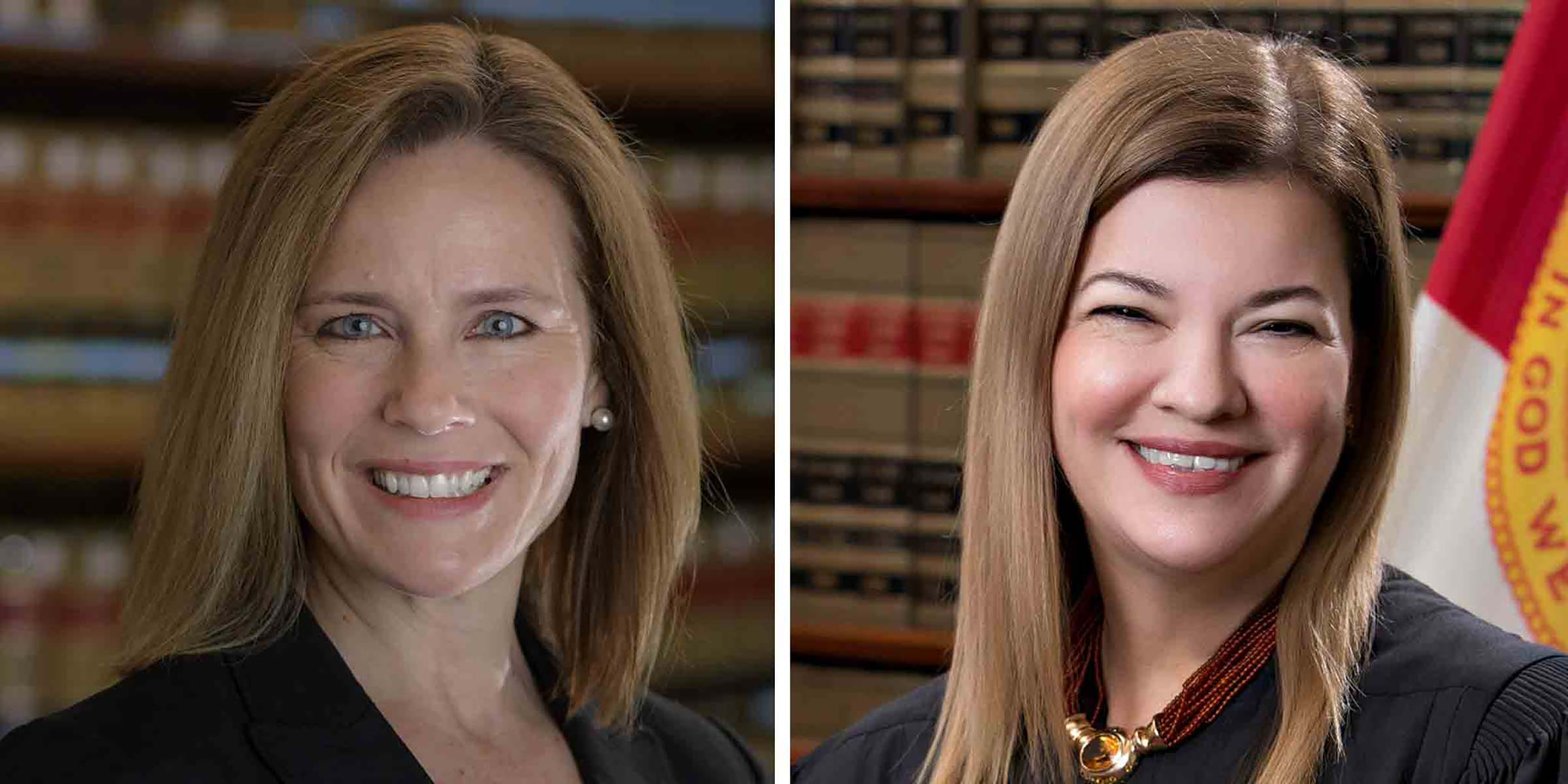 Judge Amy Coney Barrett and Judge Barbara Lagoa