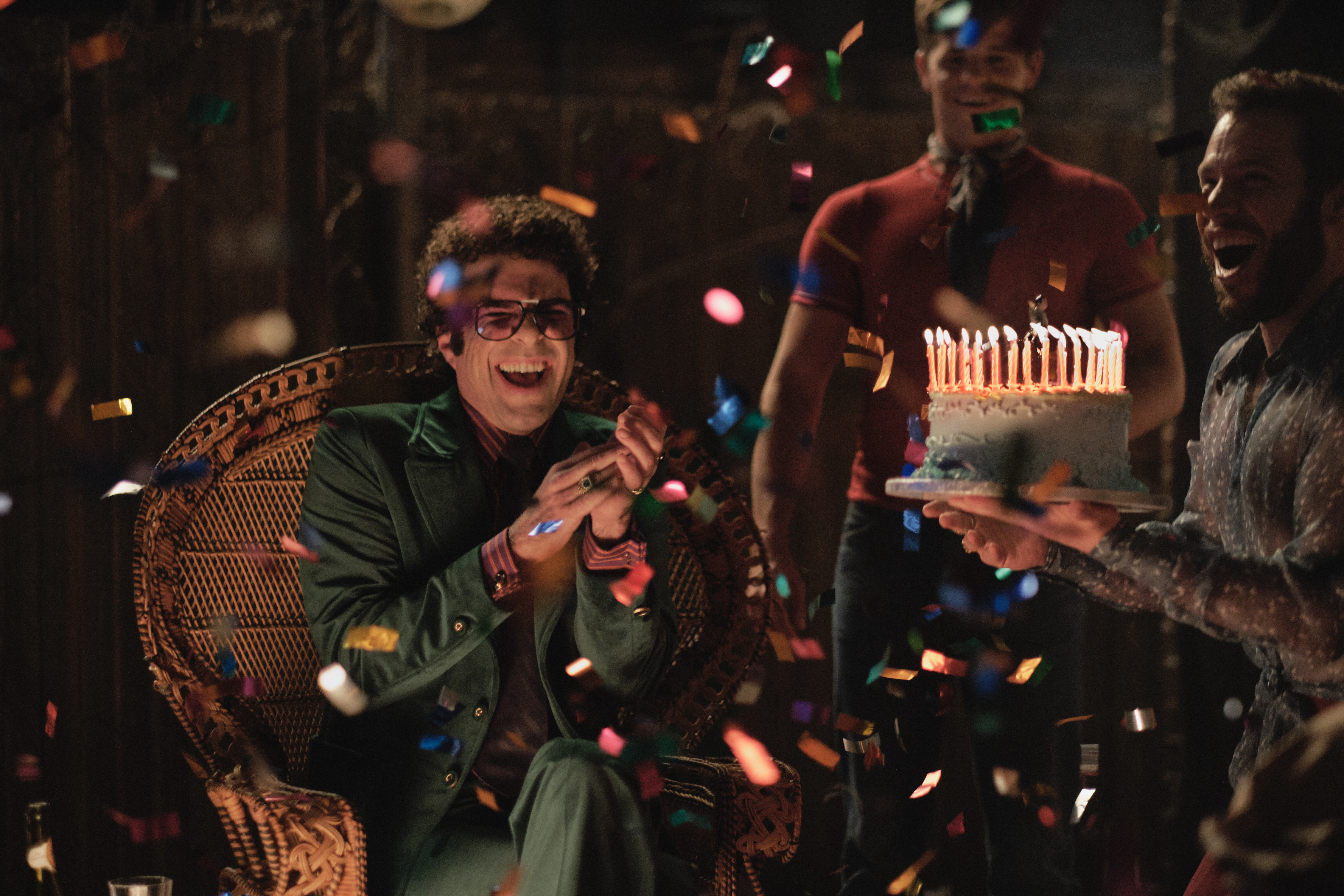 Zachary Quinto as birthday boy Harold in 'The Boys in the Band'