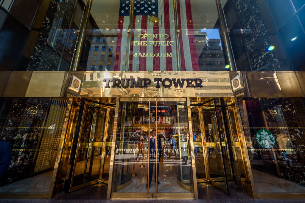 Trump Tower's Fifth Avenue entrance in New York City, seen on Nov. 21, 2019