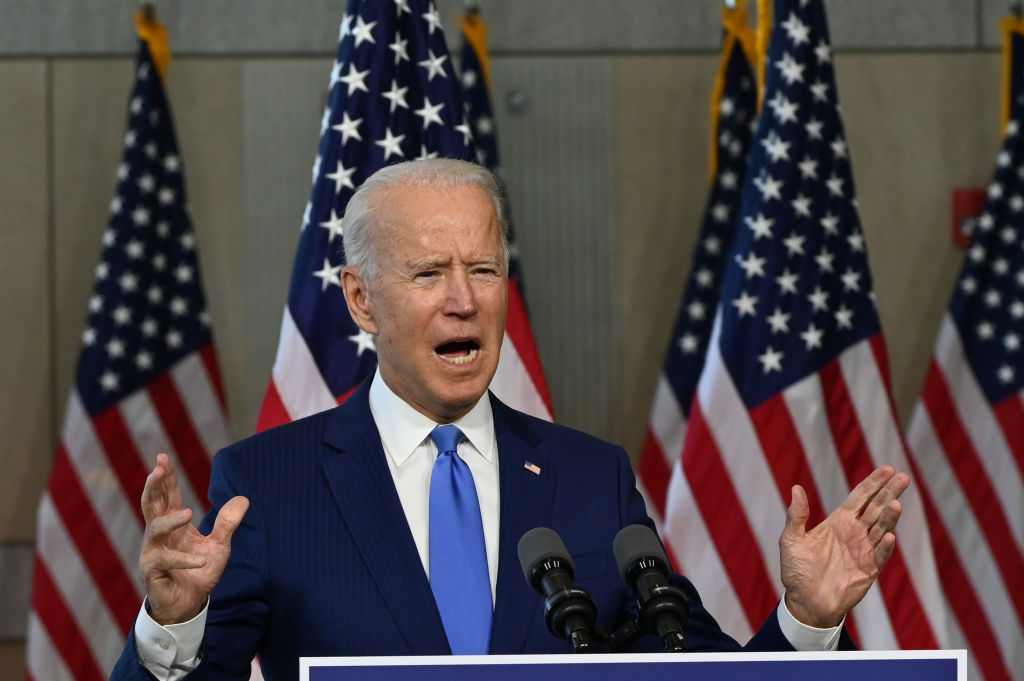 At the National Constitution Center in Philadelphia, Pennsylvania on Sept. 20, Democratic presidential nominee Joe Biden discussed the vacancy on the Supreme Court left by Justice Ruth Bader Ginsburg's death.