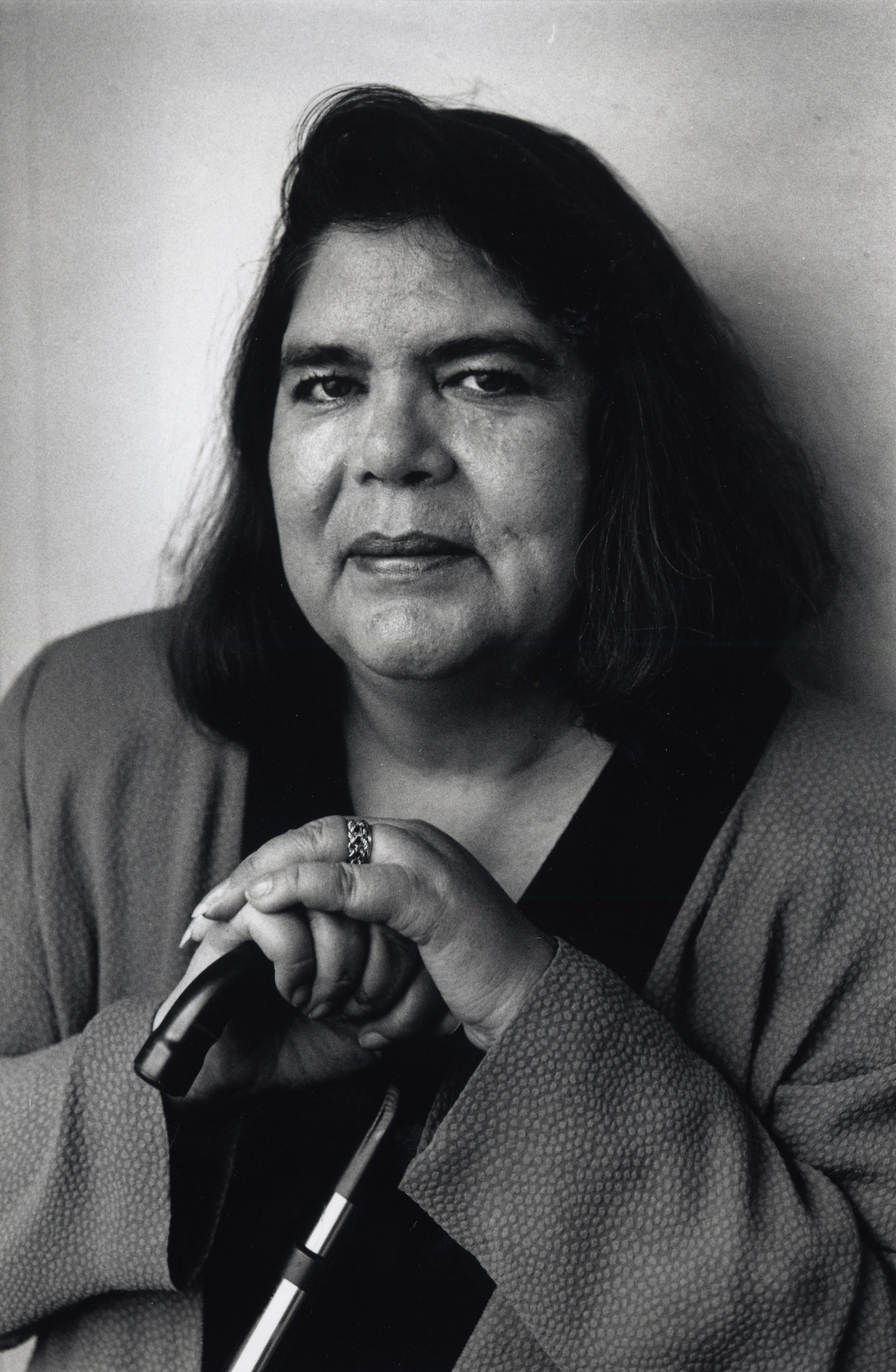 WASHINGTON, DC - NOVEMBER 15: FILE, Portrait of Chief Wilma Mankiller on November 15, 1993. (Photo by Judy Weintraub/The Washington Post via Getty Images)