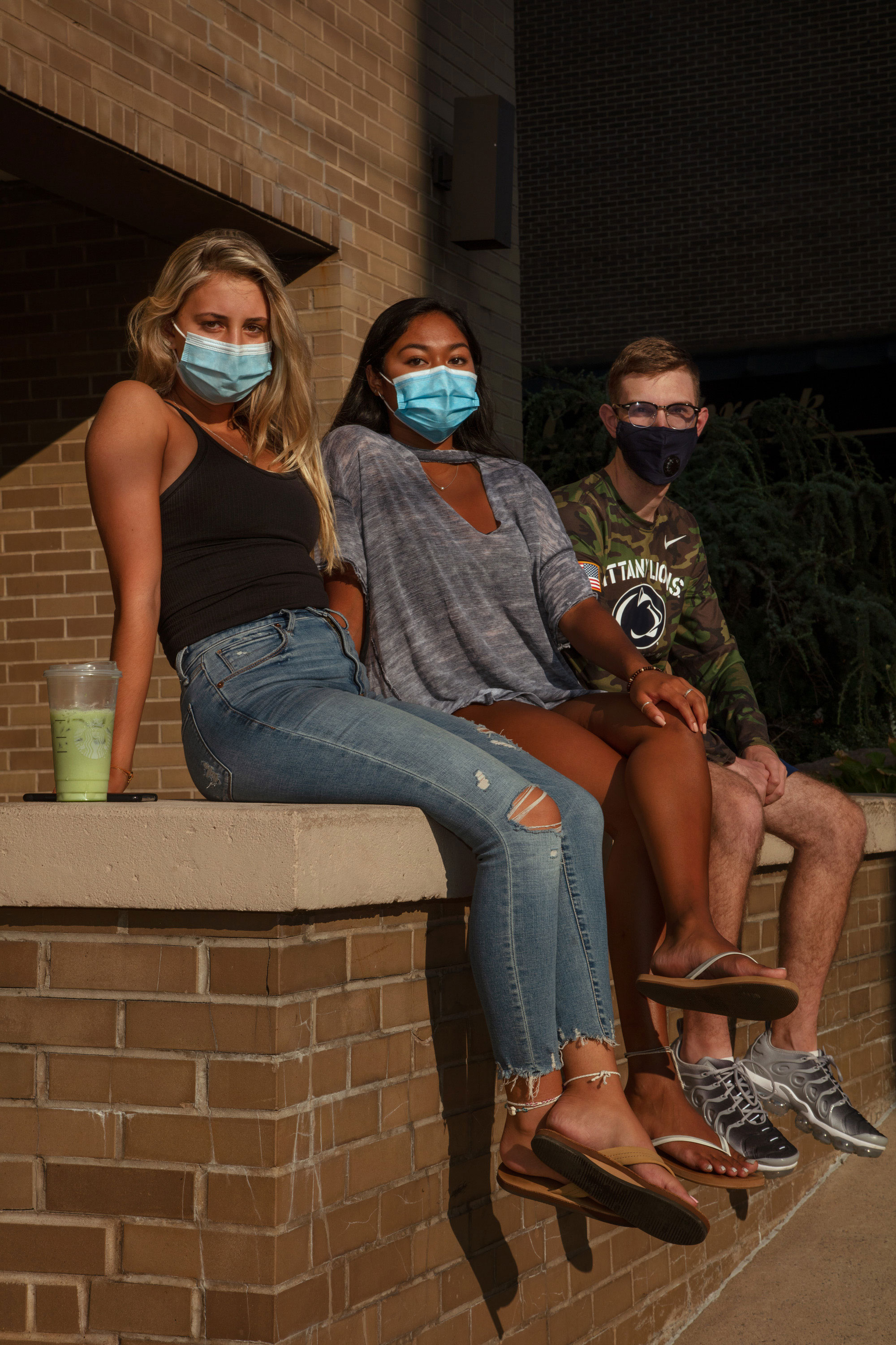 "Michelle Mariette, 21, Senior. Liza Vecchiarello, 21, Senior Jordan Kalfon, 22, Senior ""I'm personally kind of worried for my future and everyone else's,"" Vecchiarello says. ""I'm a microbiology major, and I want to go into the medical research side of things. COVID is preventing me from attending a lot of these hands-on courses."""