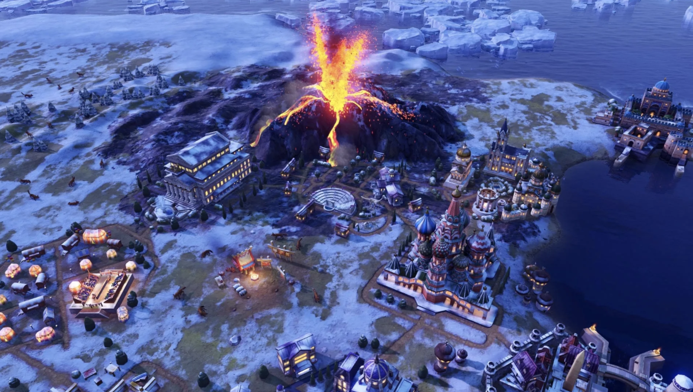 A screenshot from Civilization VI, released in 2016.