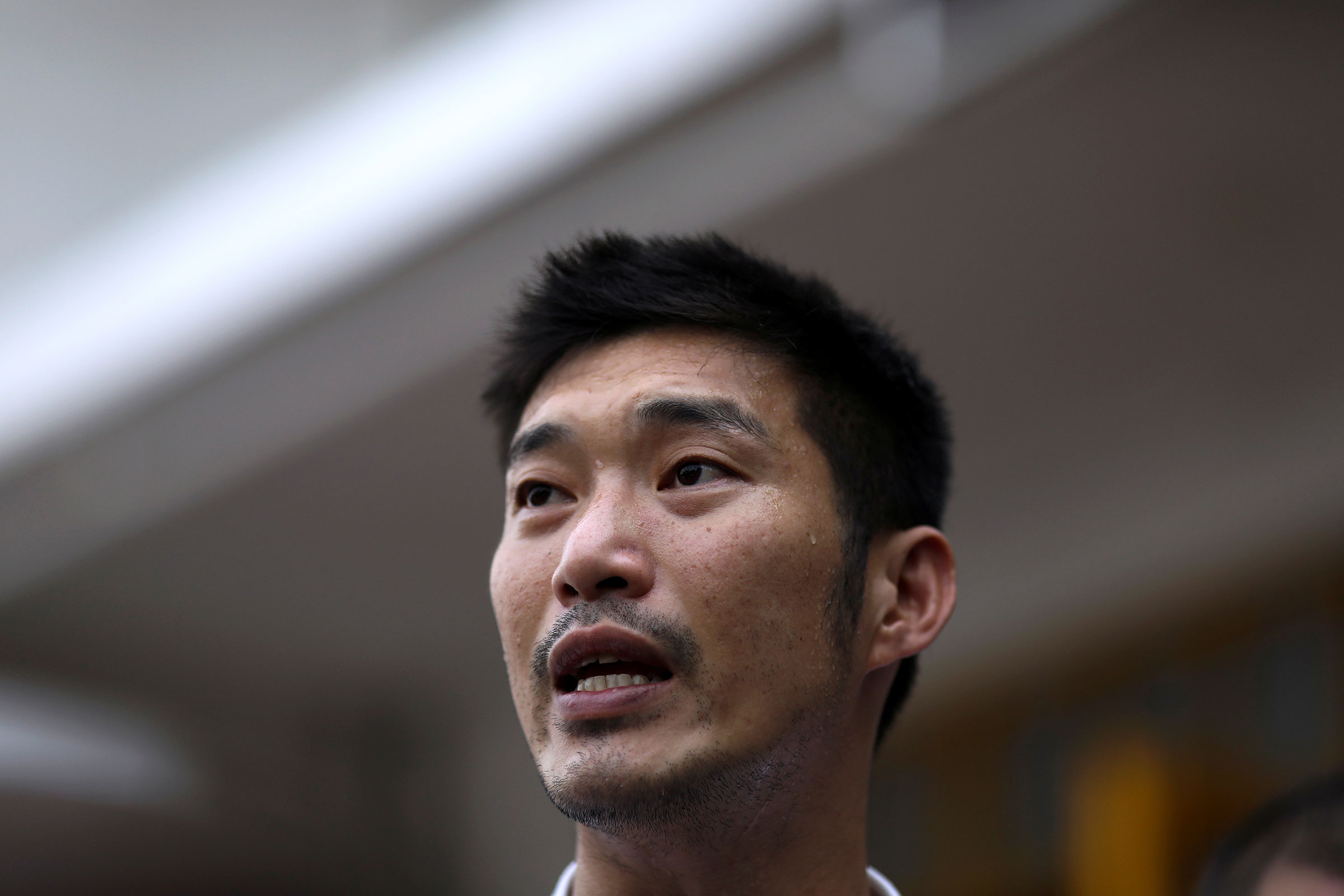 Thailand's opposition Future Forward Party leader Thanathorn Juangroongruangkit speaks before he reports to a Bangkok police station to hear charges filed against him for organizing the country's biggest protest since the 2014 coup, in Thailand, on Jan. 10, 2020.