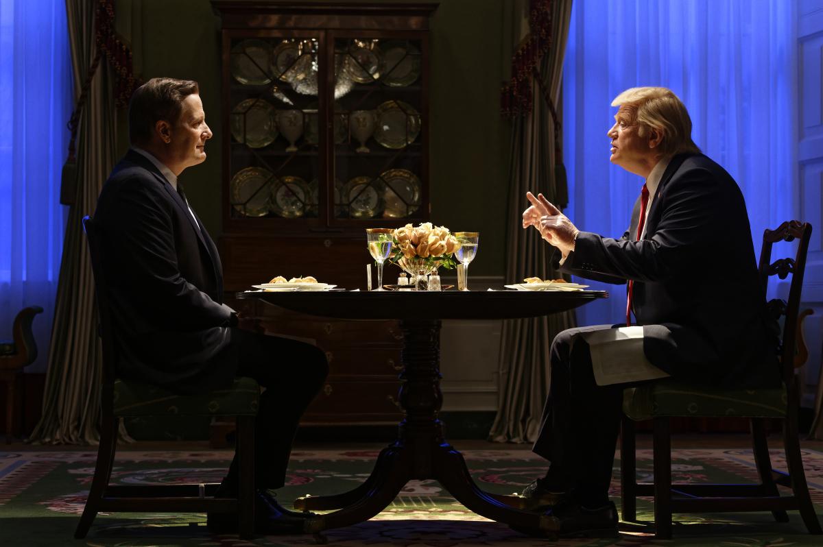 Jeff Daniels and Brendan Gleeson in 'The Comey Rule'