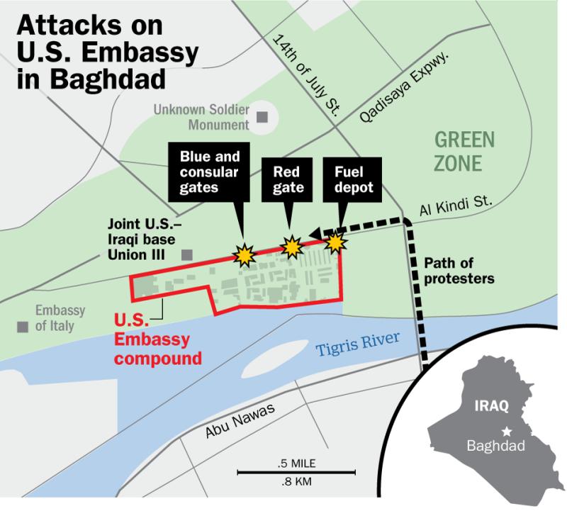 ضباط حماية السفارة الأميركية ببغداد يكشفون لأول مرة تفاصيل هجوم الميليشيات