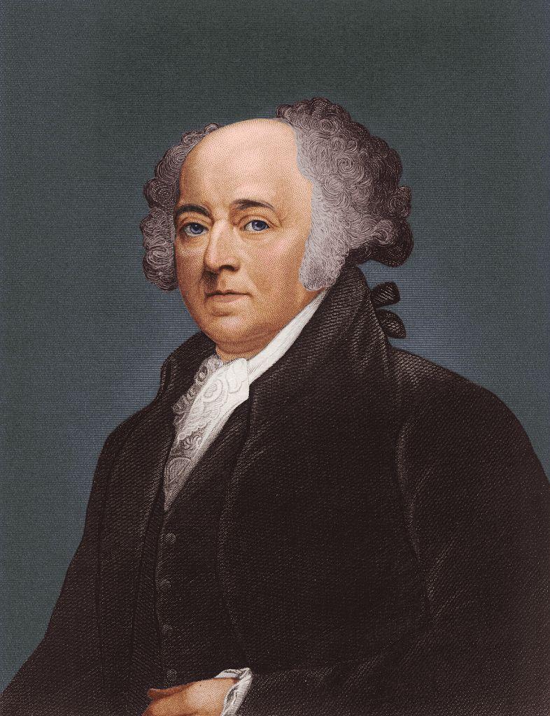 circa 1790:  John Adams (1735 - 1826) second president of the United States of America.