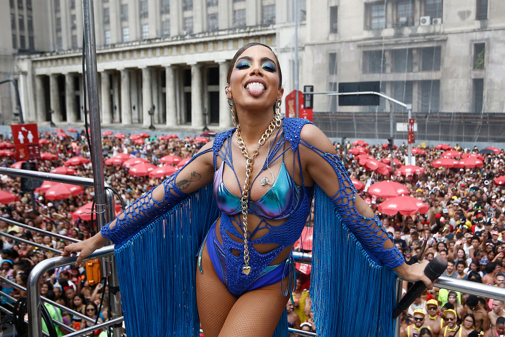 Brazilian singer Anitta during the Bloco da Anitta in downtown Rio, on February 29, 2020 in Rio de Janeiro, Brazil.
