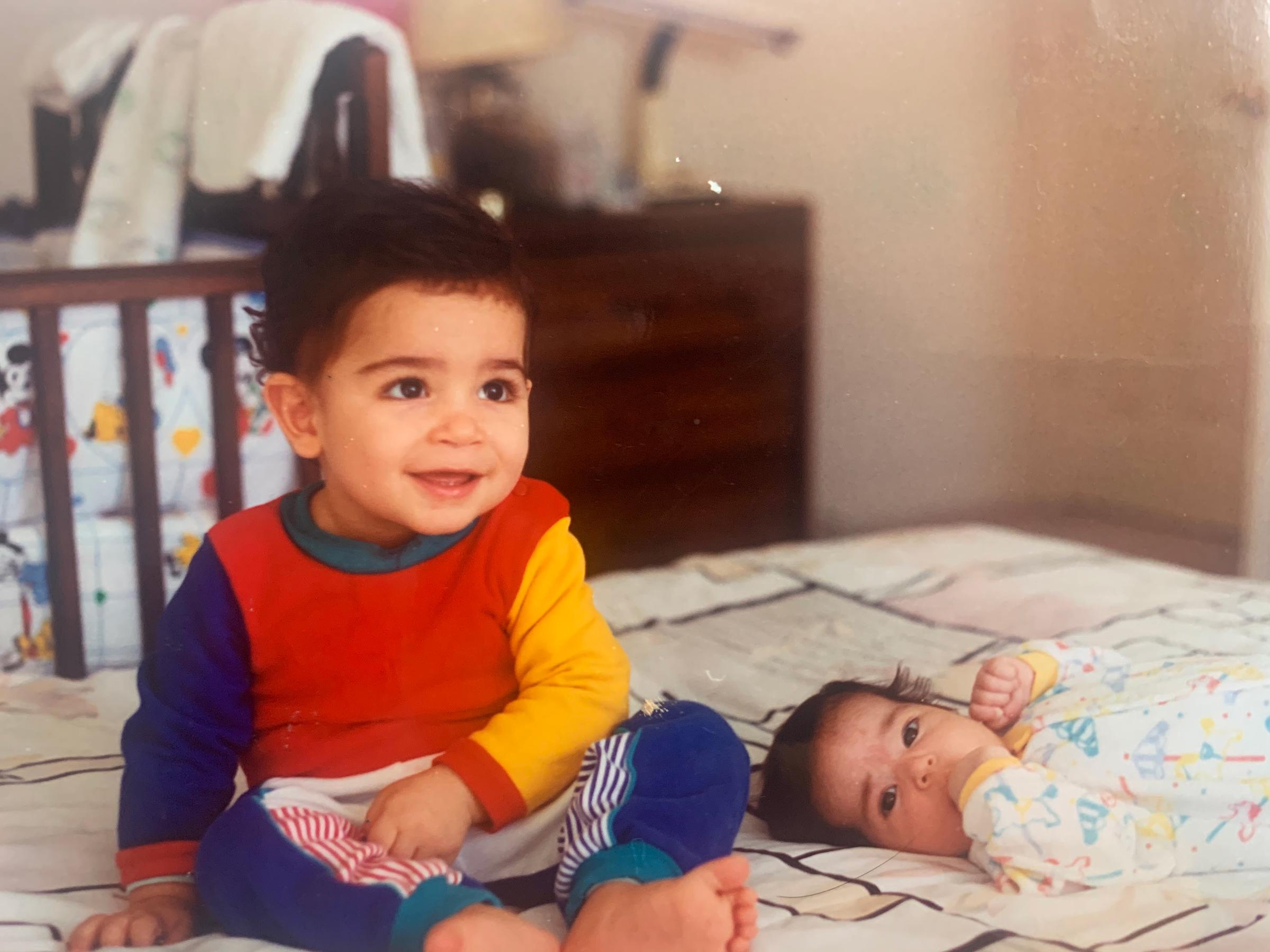 Arvin Ahmadi as a child
