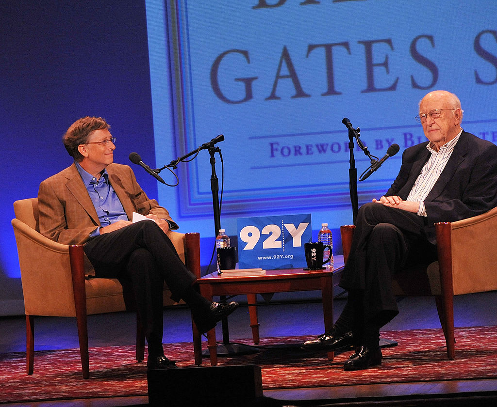 Bill Gates and his father Bill Gates, Sr. attend at the 92nd Street Y on June 2, 2010 in New York City.