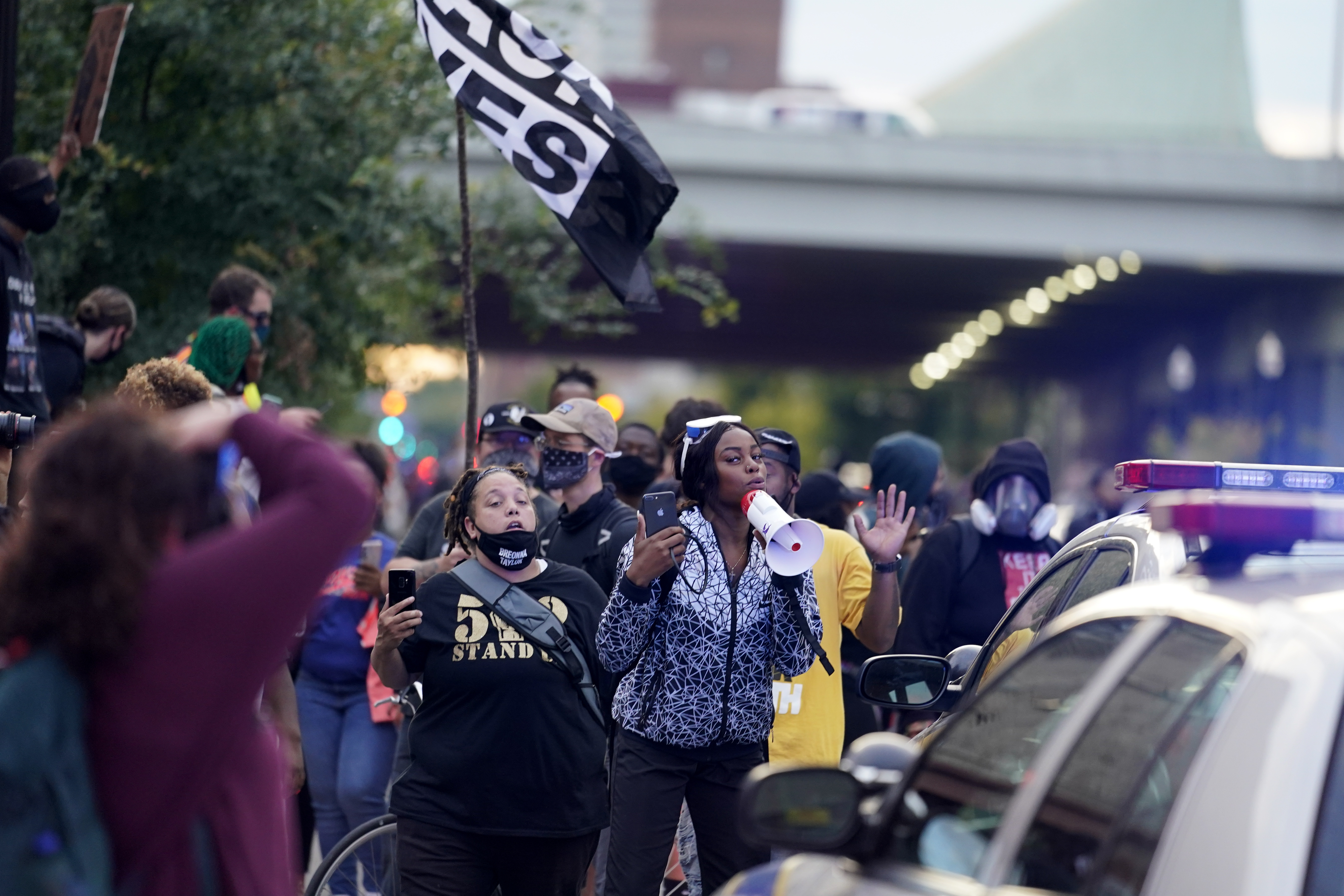 Black Lives Matter protesters march, Sept. 25, 2020, in Louisville.