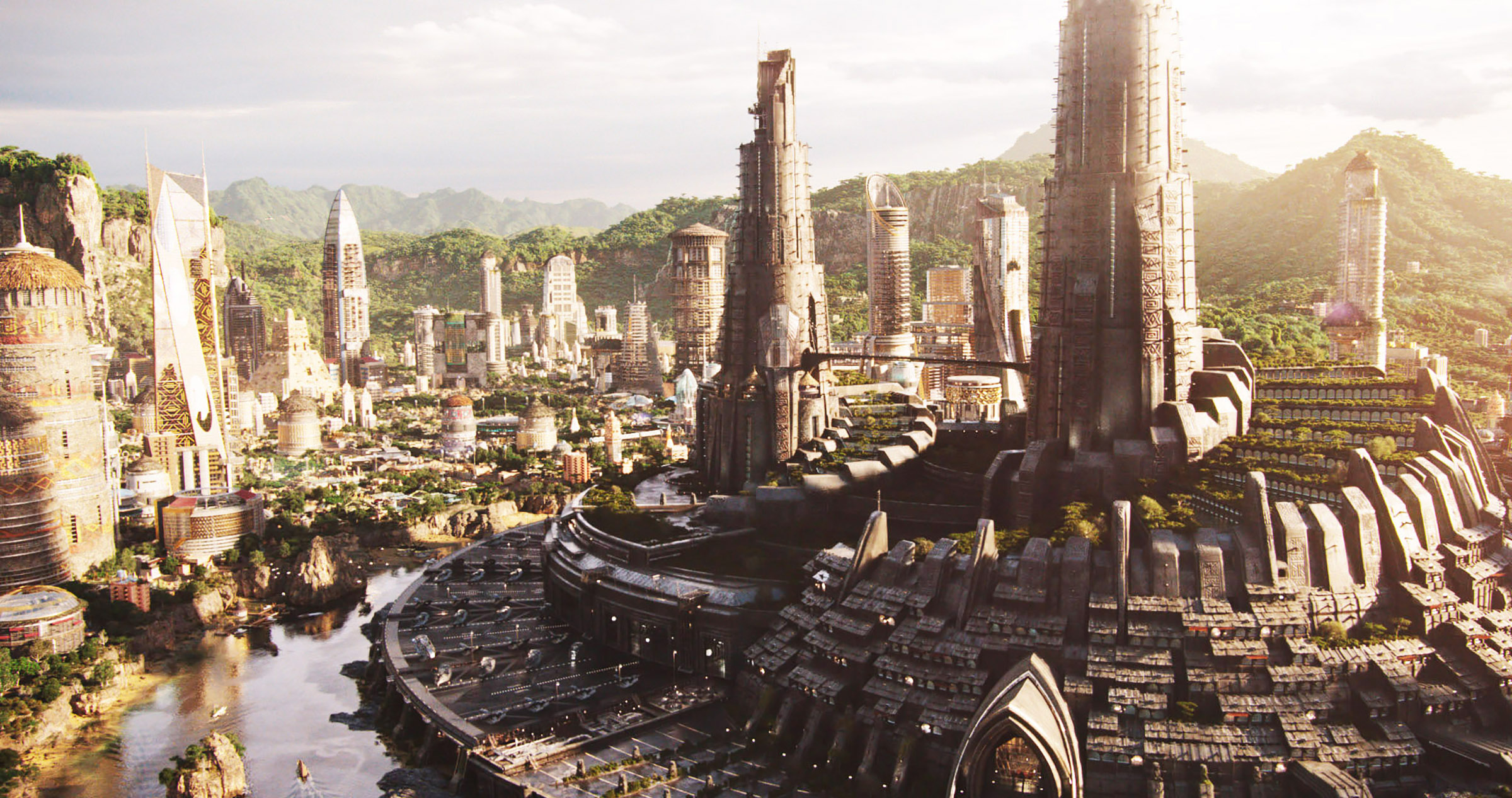 A view of Wakanda, in the movie 'Black Panther'.