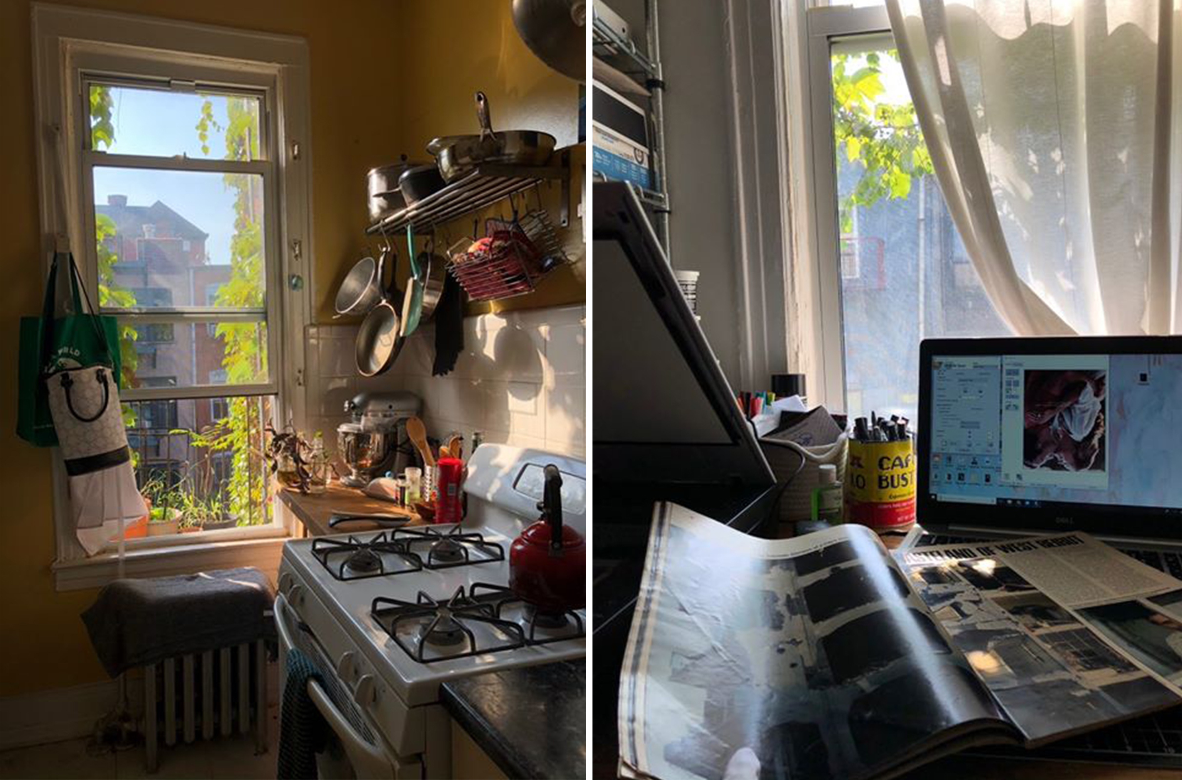 Sydney Ellison, a student at Pratt Institute in New York City, has been living in Brooklyn and studying remotely while classes remain virtual this fall