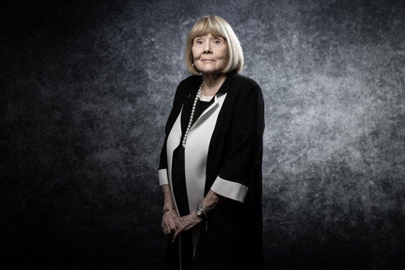 Diana Rigg poses for a photo at the Cannes International Series Festival on April 5, 2019 in Cannes, France.