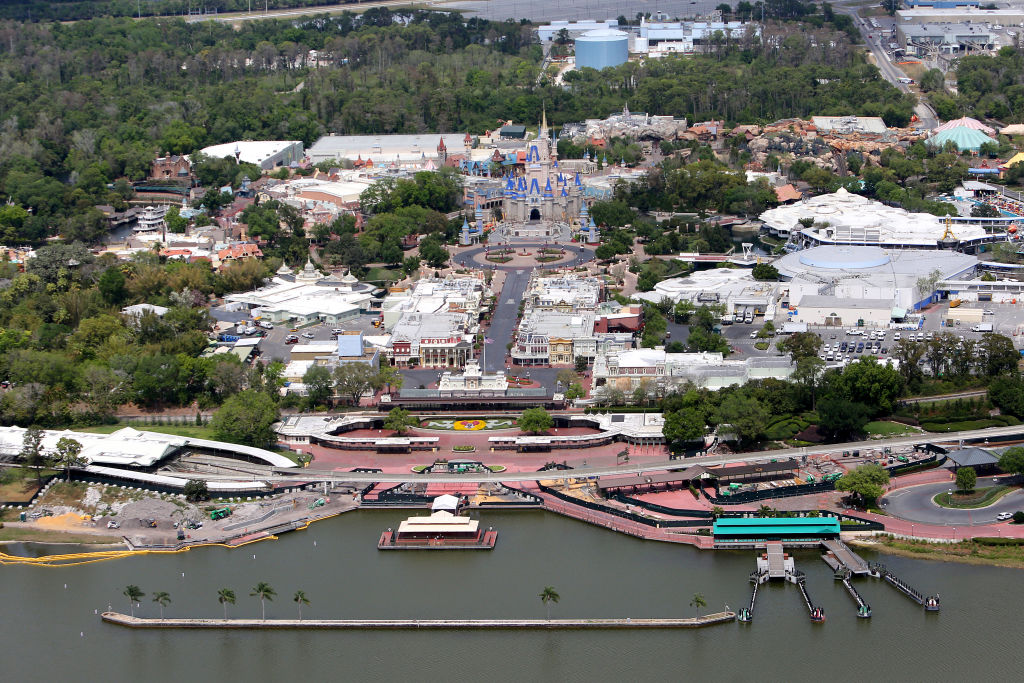 Walt Disney World remains closed to the public due to the Coronavirus threat on March 23, 2020 in Orlando, Fla.