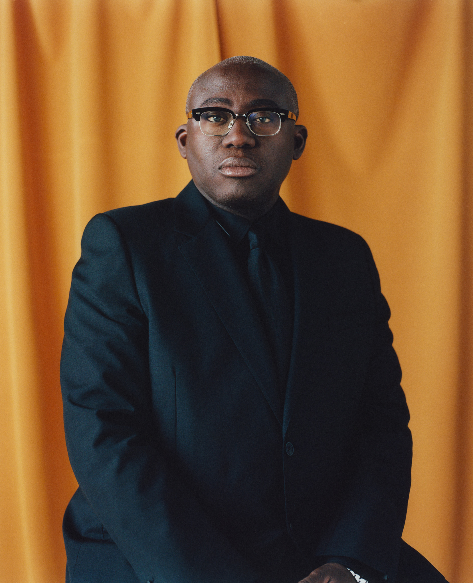 British Vogue editor in chief Enninful in Ladbroke Grove, London, on Aug. 31.