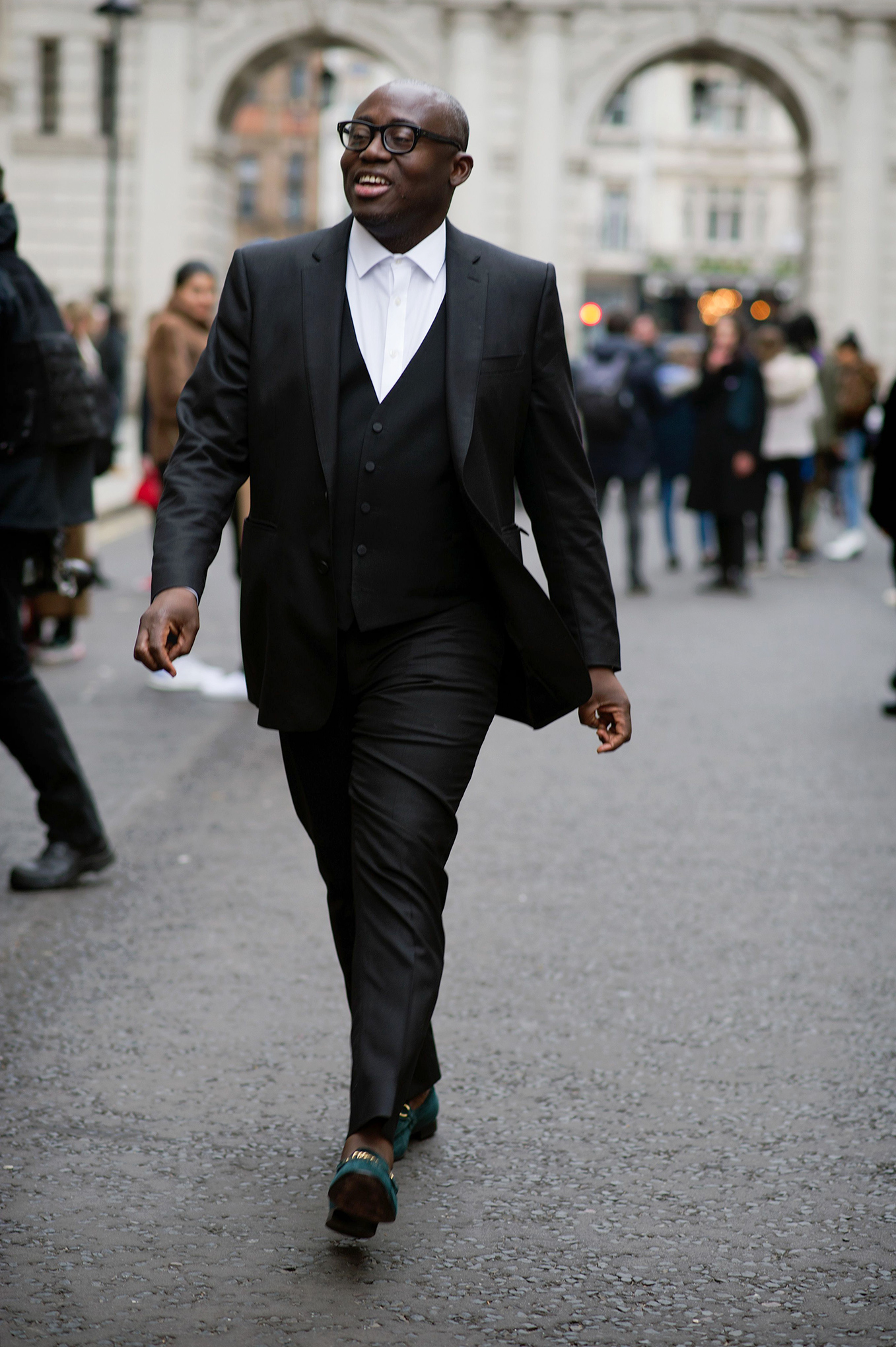 Enninful at London Fashion Week on Feb. 16, 2019.