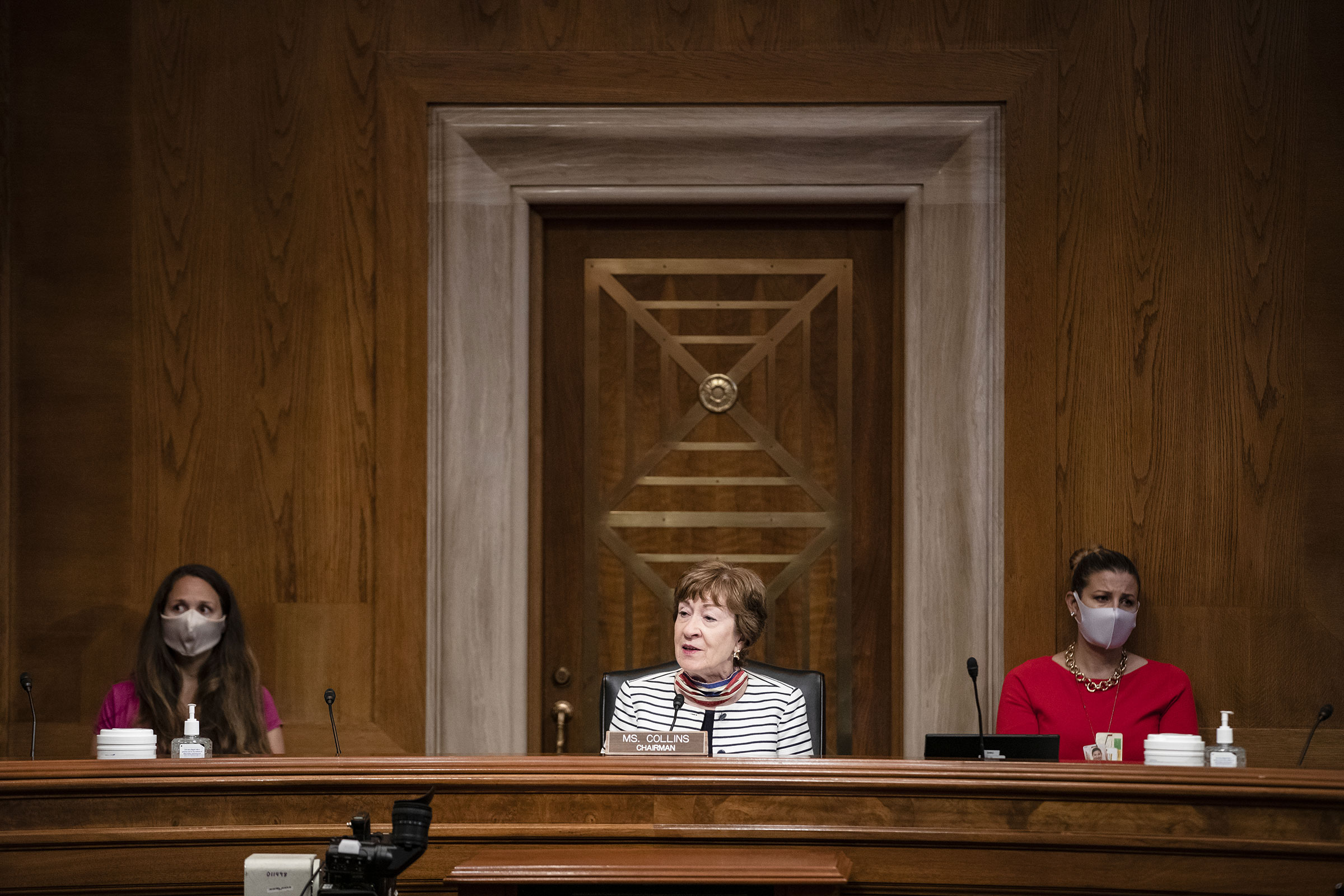 Chairwoman Senator Susan Collins speaks during a Senate Special Committee of Aging hearing on July 21, 2020.