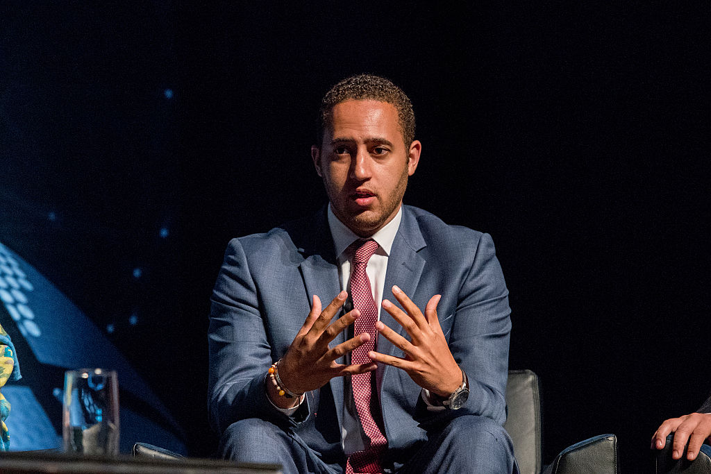 Ithaca, New York Mayor Svante Myrick on stage during the Beyond Sport United 2016 at Barclays Center on August 9, 2016 in Brooklyn, New York.