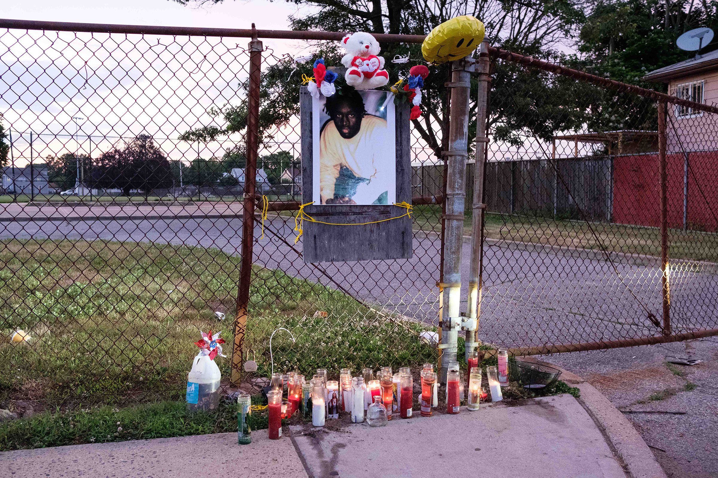 A memorial, in honor of Jamel Floyd, is placed at Kennedy Memorial Park in Hempstead, N.Y., where Jamel grew up playing baseball.