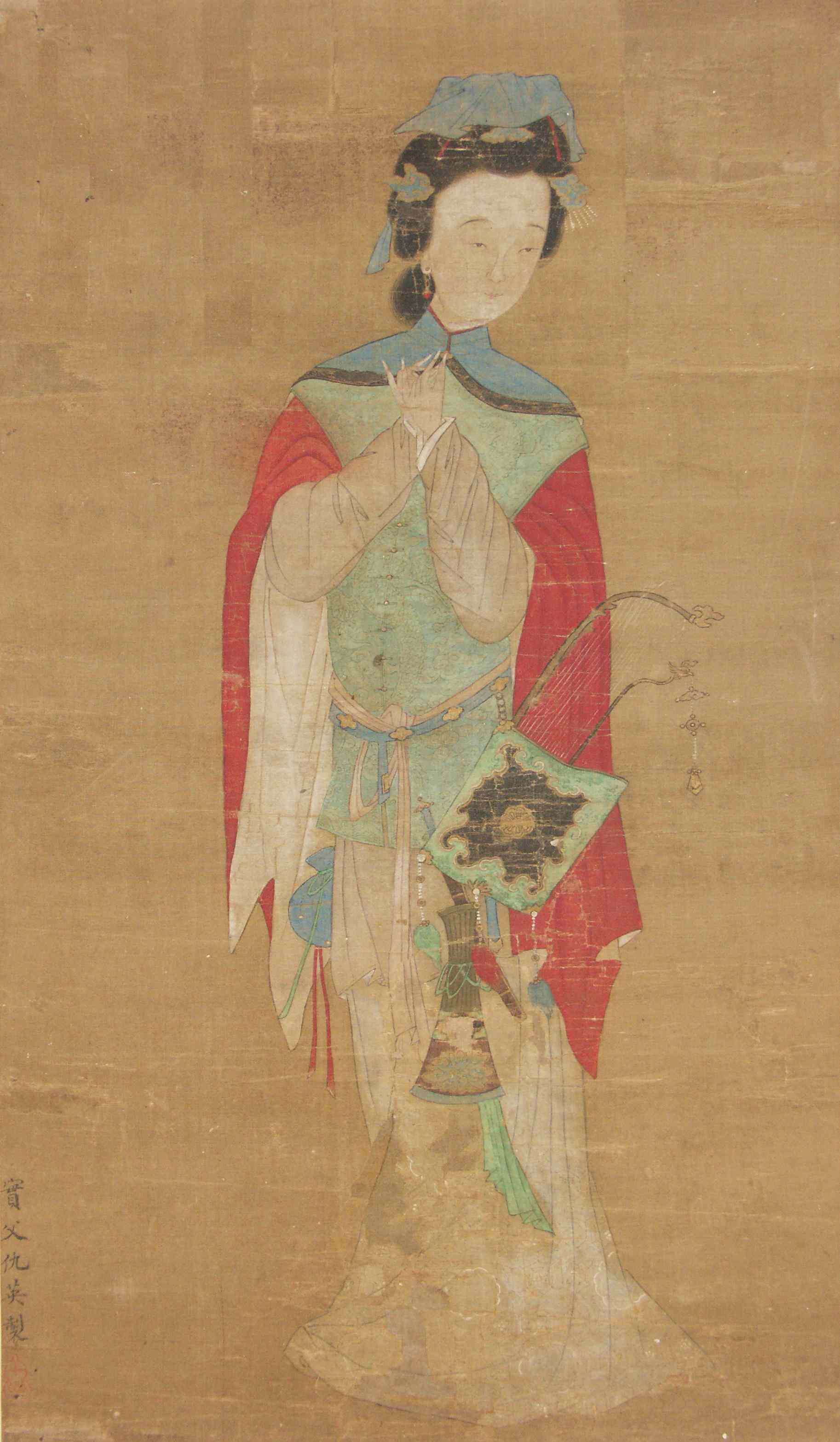 A painting of Mulan on silk from the eighteenth century.