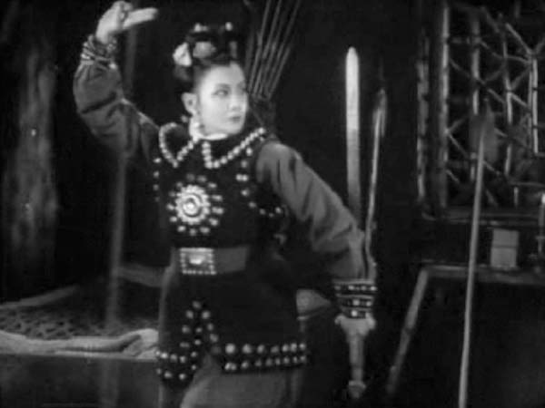 A still from  Mulan Joins the Army,  from 1939. Historians say this film highlighted the more nationalistic elements of the original story and helped renew interest in Mulan's tale