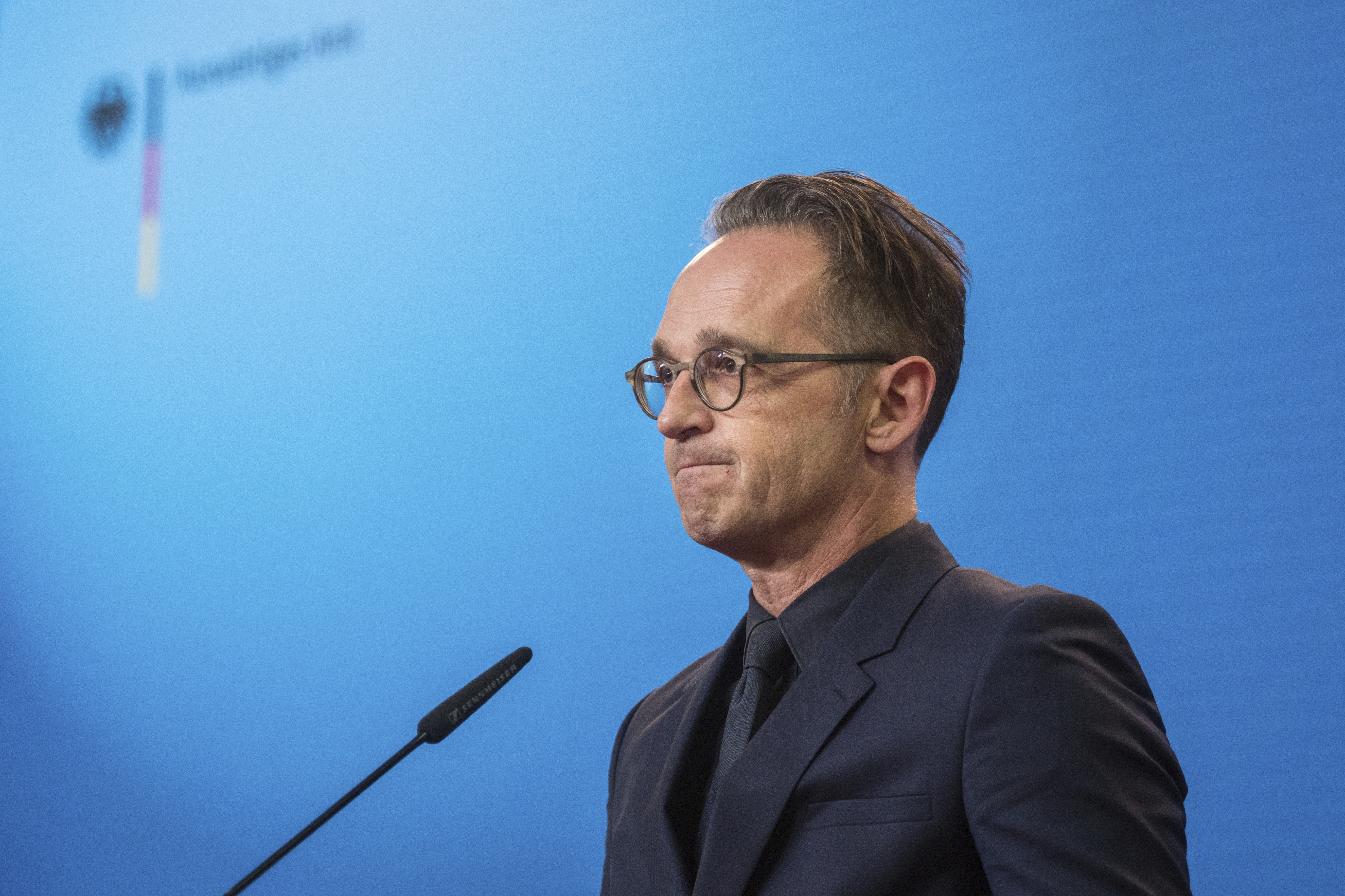 German Foreign Minister Heiko Maas attends a press conference at the Foreign Ministry in Berlin, Germany on Sept. 2, 2020.