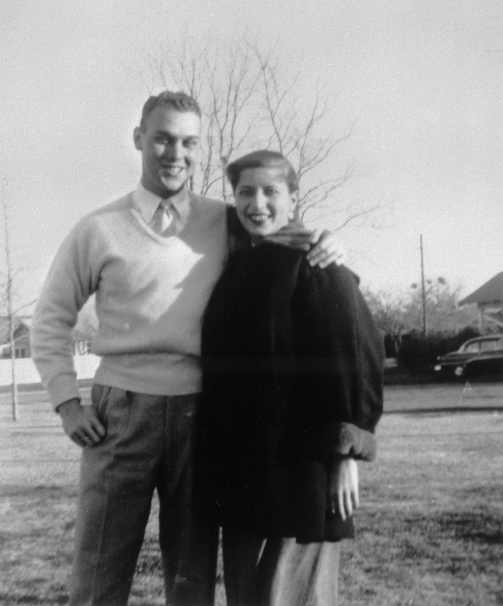 Martin D. Ginsburg and Ruth Bader Ginsburg in the fall of 1954 when Martin was serving in the Army.