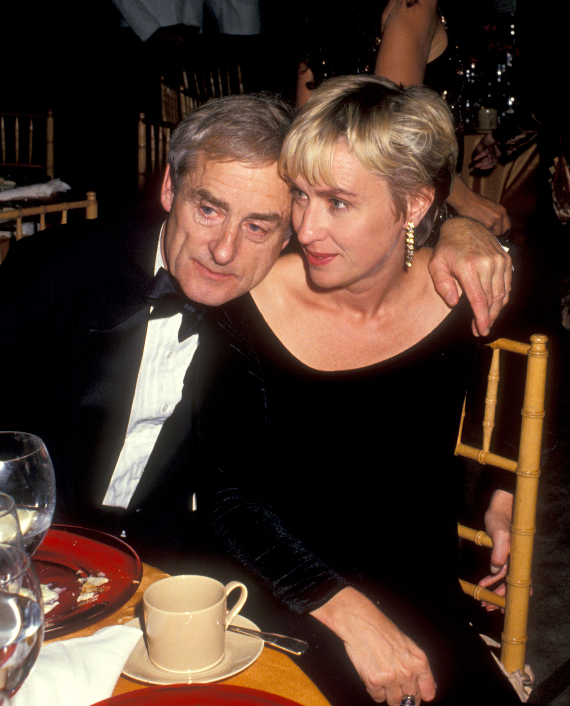 Evans and Tina Brown attend a party at The New York Public Library on September 27, 1993 in New York City.