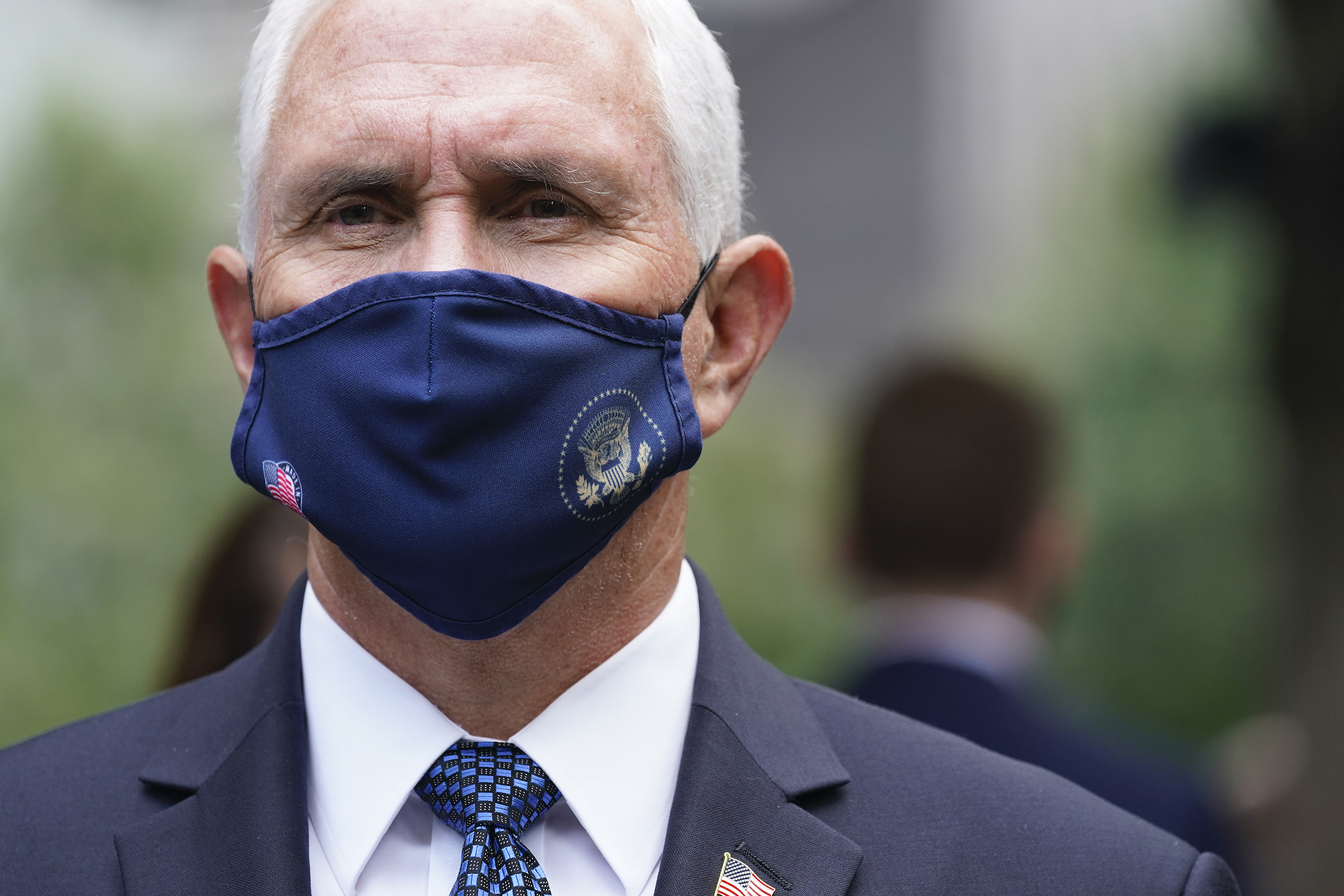 Vice President Mike Pence attends a ceremony on Sept. 11 2020, in New York.
