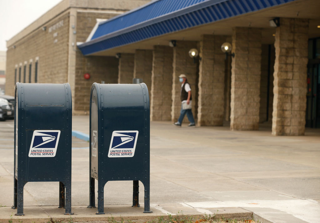 A U.S. Postal Service office is seen in Hayward, Calif. on Thursday, Sept. 10, 2020. Hayward city council candidate Elisha Crader is concerned about the Postal Service's ability to handle the vote-by-mail ballots on Nov. 3 and President Trump's rhetoric affecting the Latino vote in her city.
