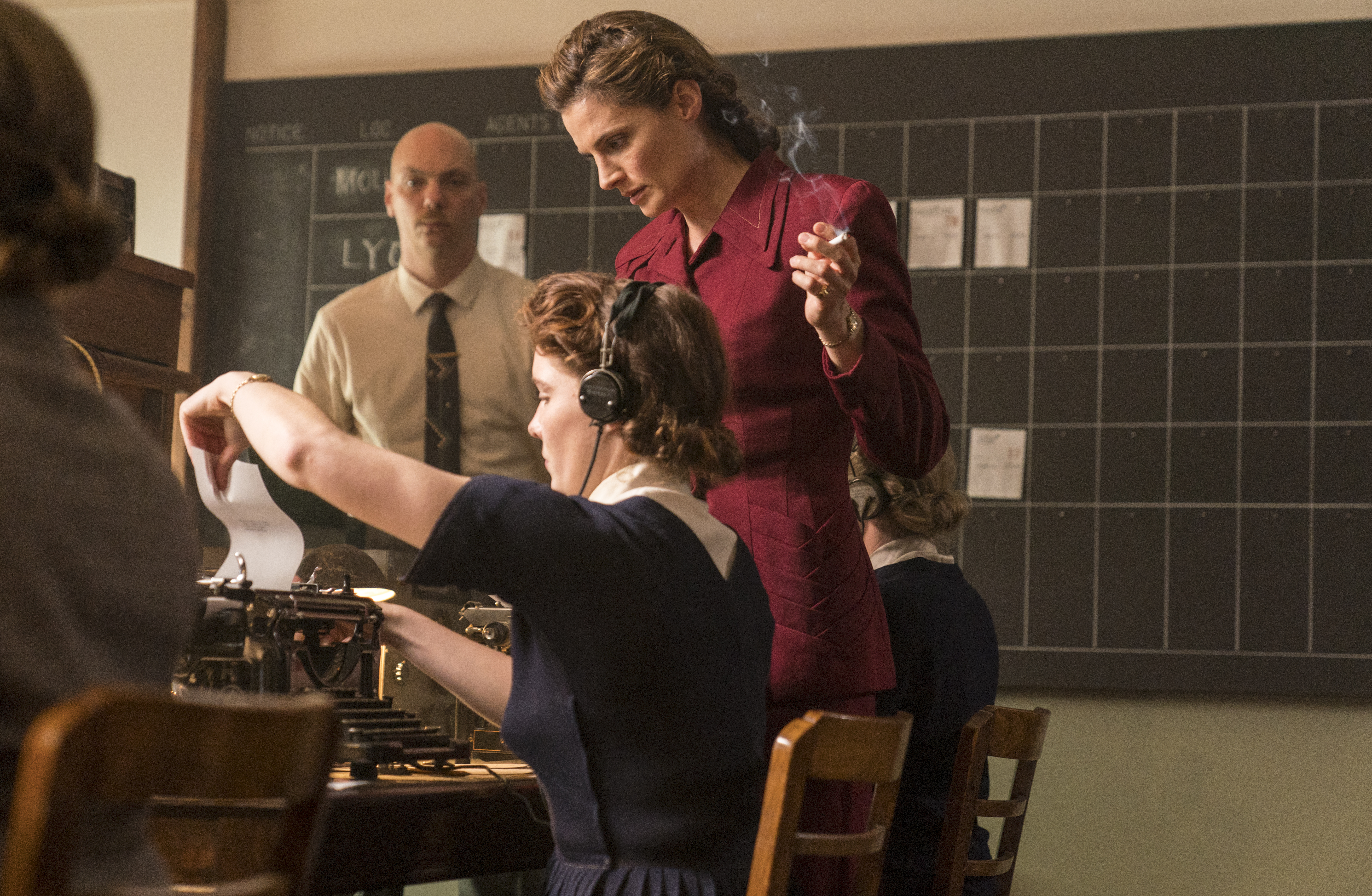 Stana Katic as Vera Atkins in 'A Call to Spy'