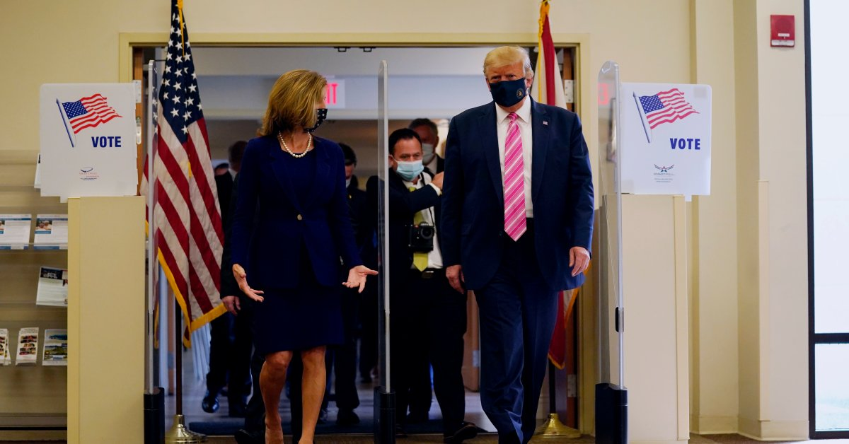 President Trump Casts Vote in Florida Ahead of...