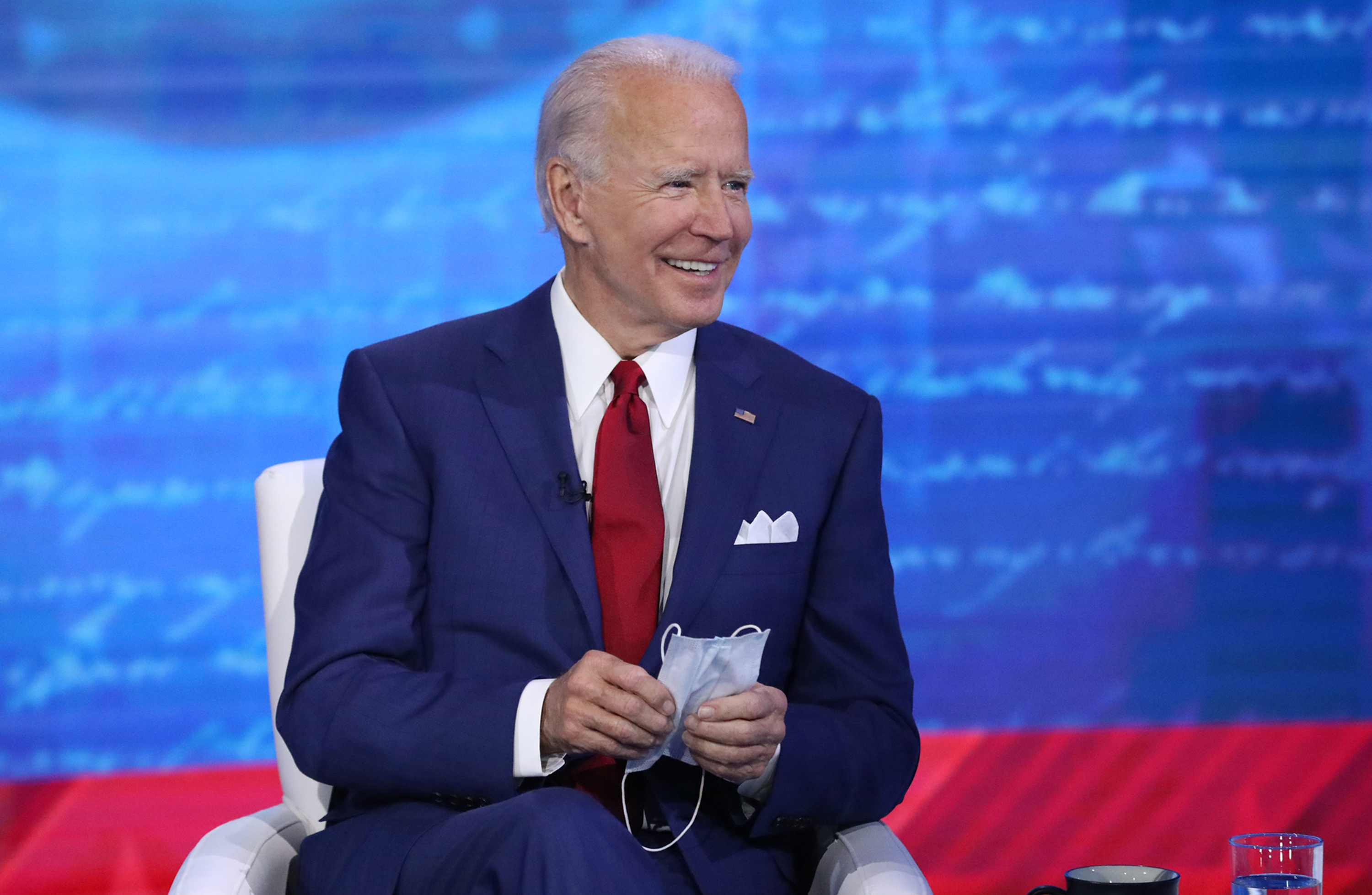 Democratic presidential nominee Joe Biden on Oct. 15, 2020 in Philadelphia, during ABC's  The Vice President and the People