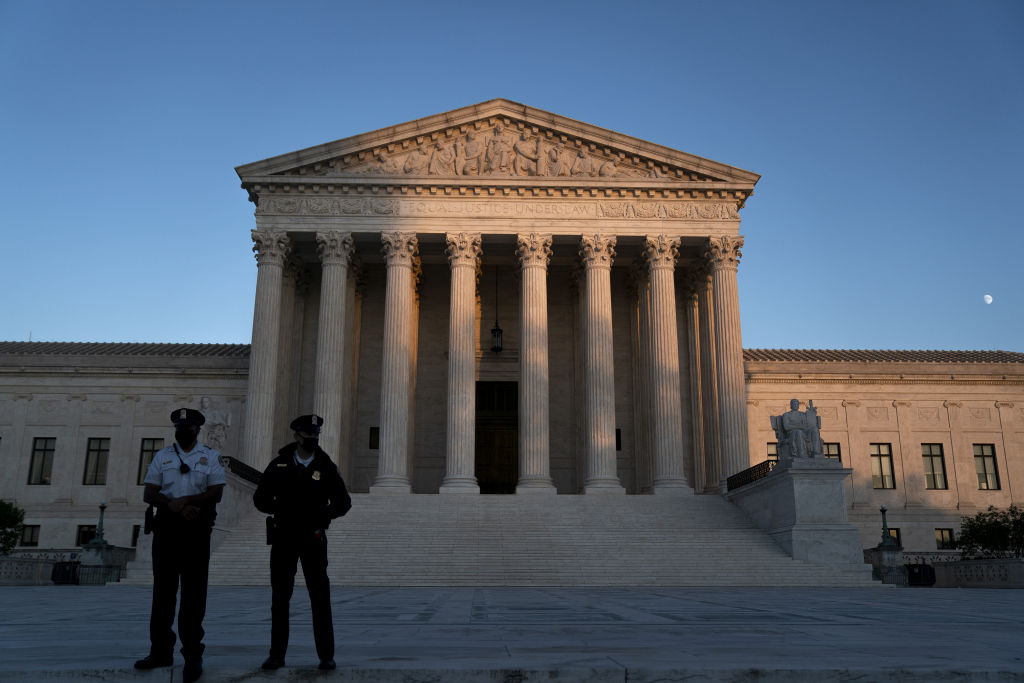 The U.S. Supreme Court building in Washington, D.C., U.S., on Oct. 26, 2020.