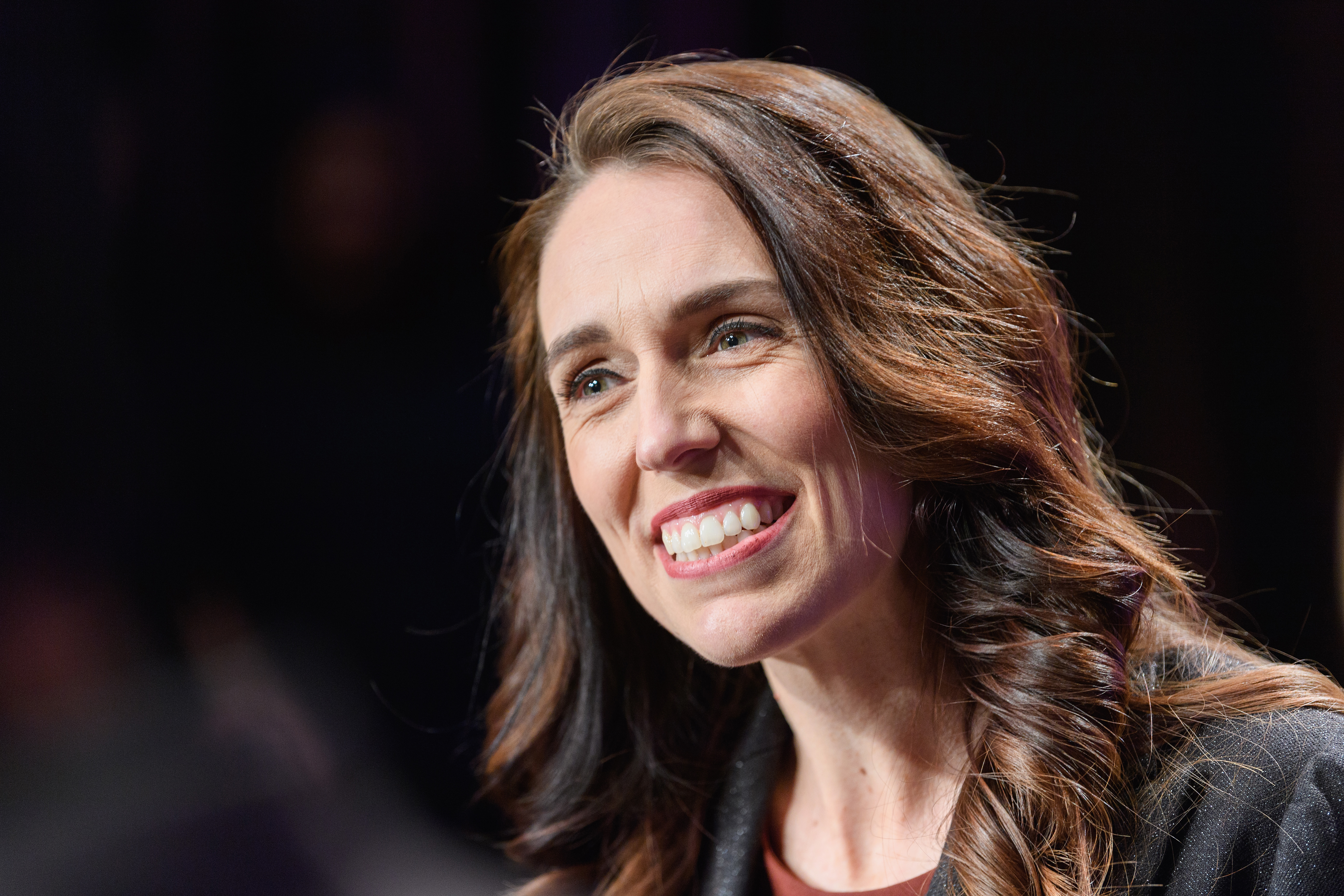 New Zealand Prime Minister Jacinda Ardern speaks to the media following The Press Leaders Debate at Christchurch Town Hall on October 06, 2020 in Christchurch, New Zealand.