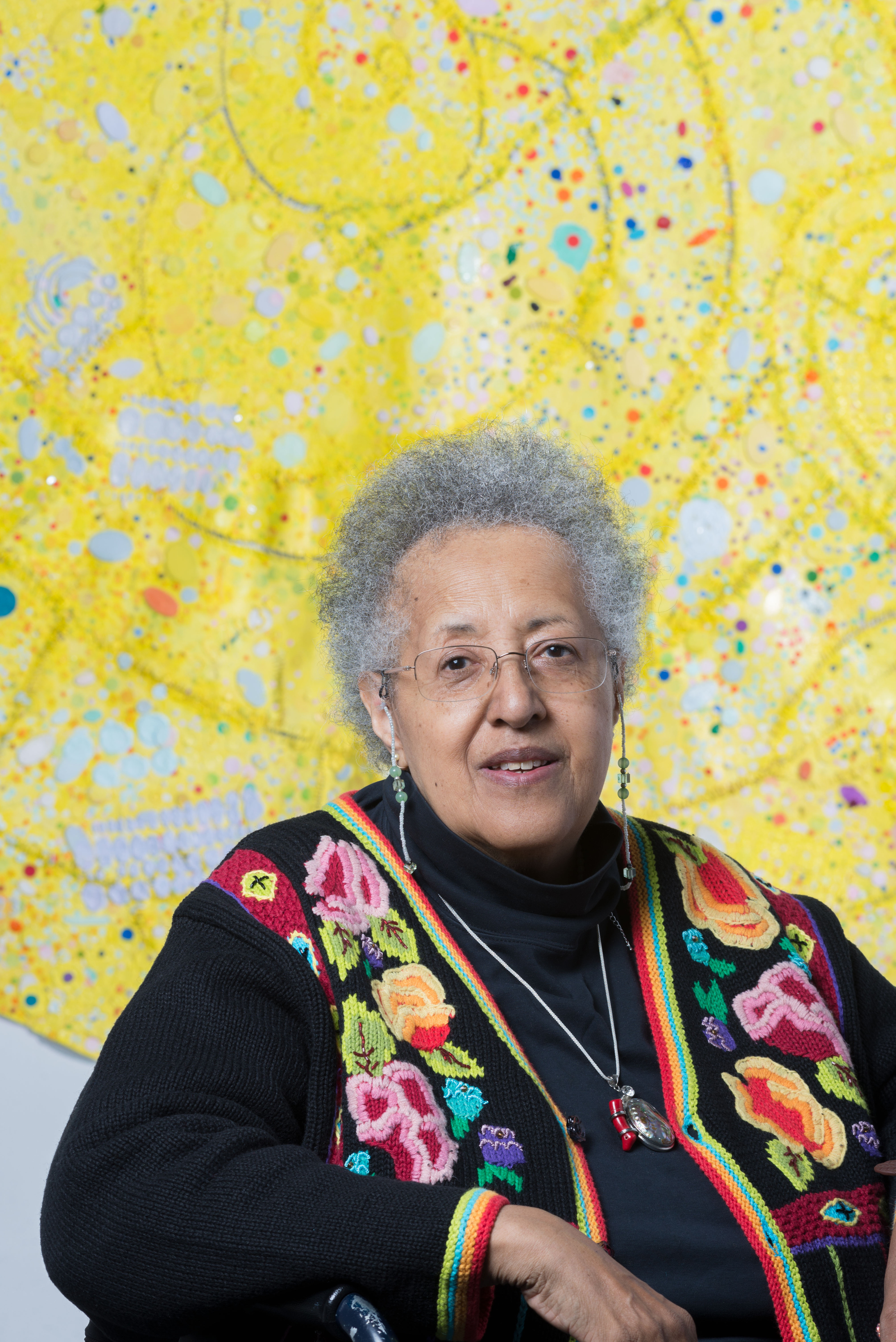As part of The Shed's mission to help artists bring to life works that they have not yet been able to realize, Howardena Pindell was able to create a piece she's been envisioning for four decades