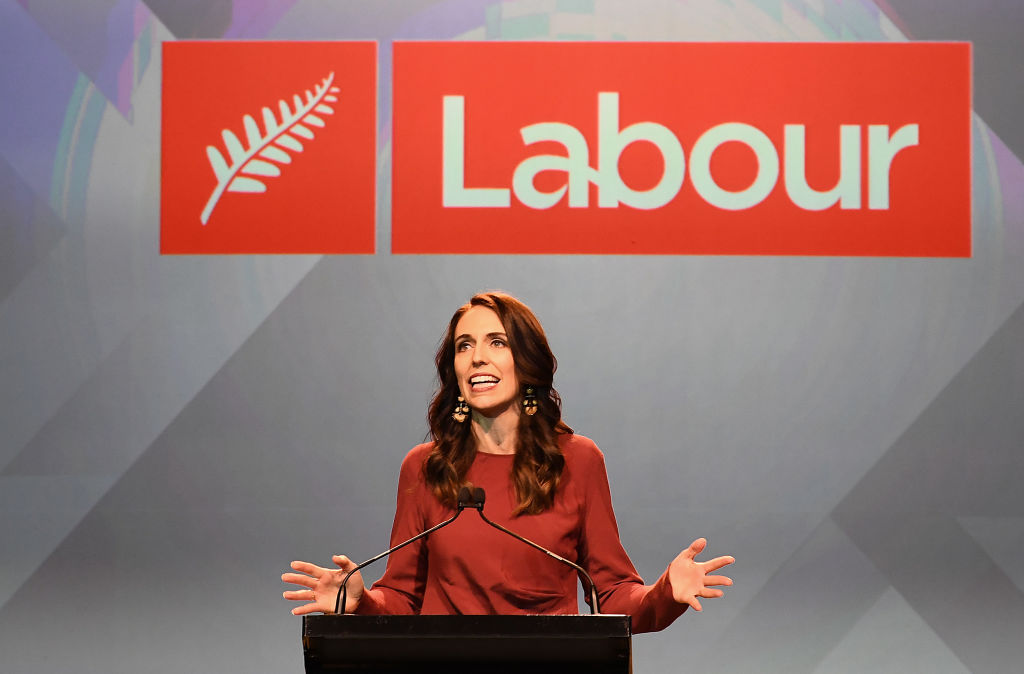New Zealand Prime Minister Jacinda Ardern claims victory after her Labour Party won a landslide victory on Saturday, Oct. 17, 2020. She will be the first prime minister under New Zealand's government current system who will be able to govern without the help of other coalition parties, giving her almost unprecedented new power.