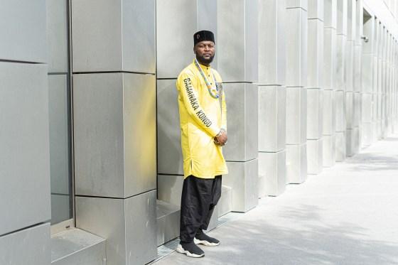 Portrait of activist Mwazulu Diyabanza - Paris