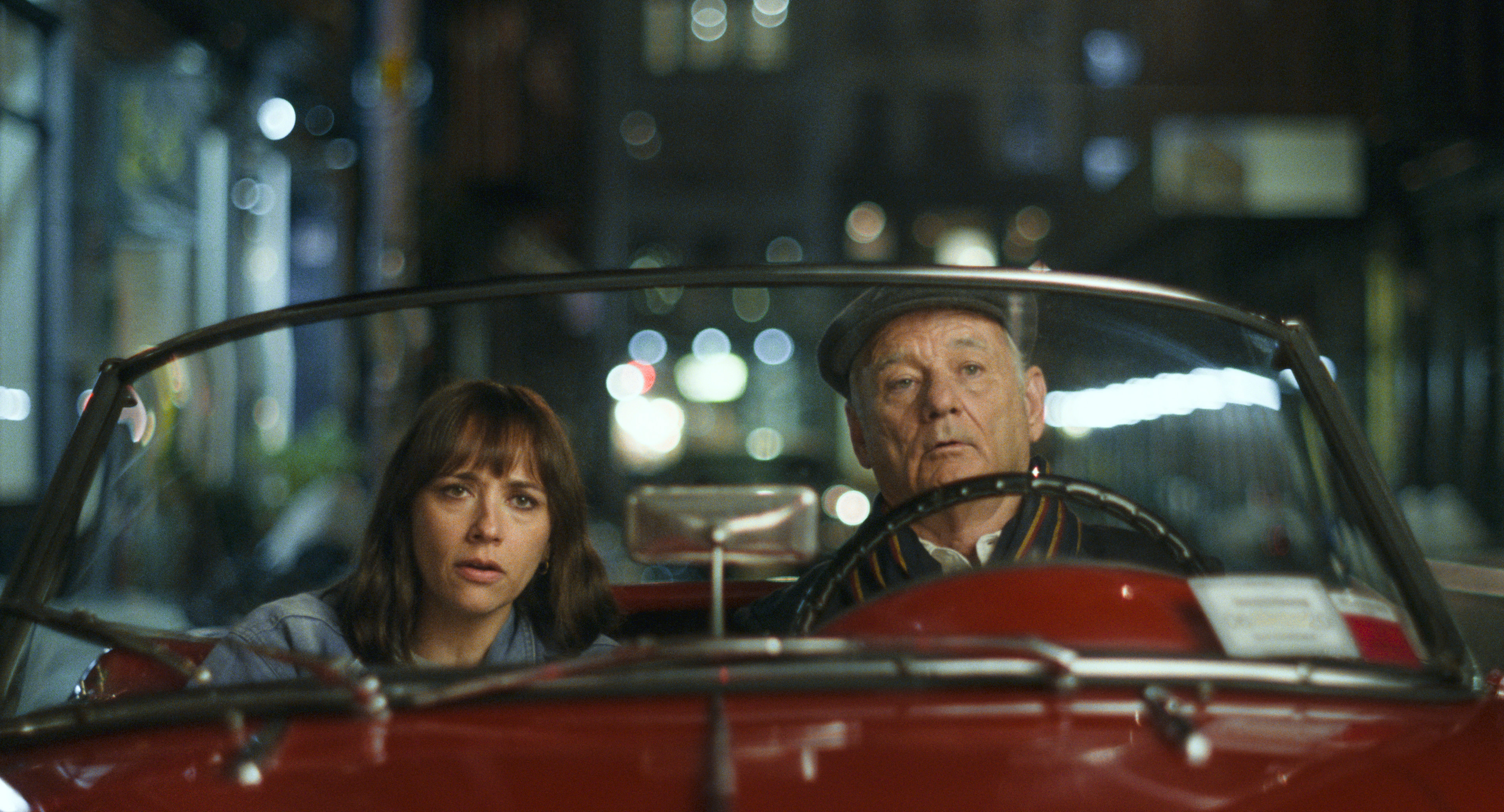 Rashida Jones and Bill Murray on a stake-out in 'On the Rocks'