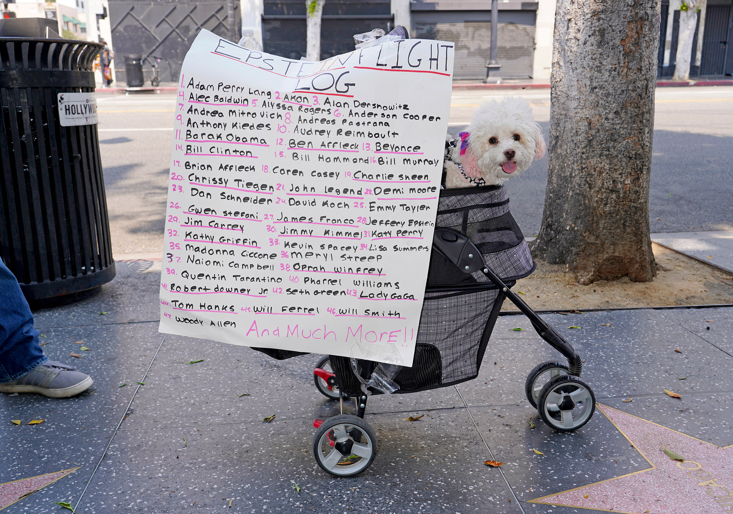 A sign at a Save Our Children rally in Los Angeles, Aug. 22, 2020.