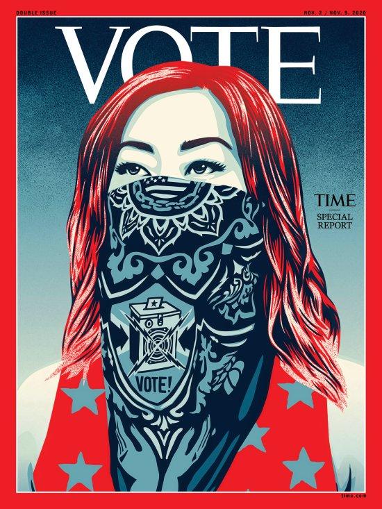 Vote Time Magazine Cover