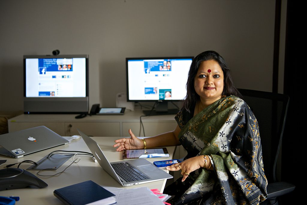 Ankhi Das, Public Policy Director, Facebook India and South Central Asia, at her office on March 3, 2014 in New Delhi, India.