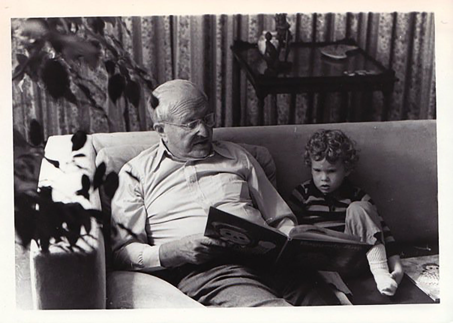Ben as a toddler with his Grandpa Joe, who was also a veteran.