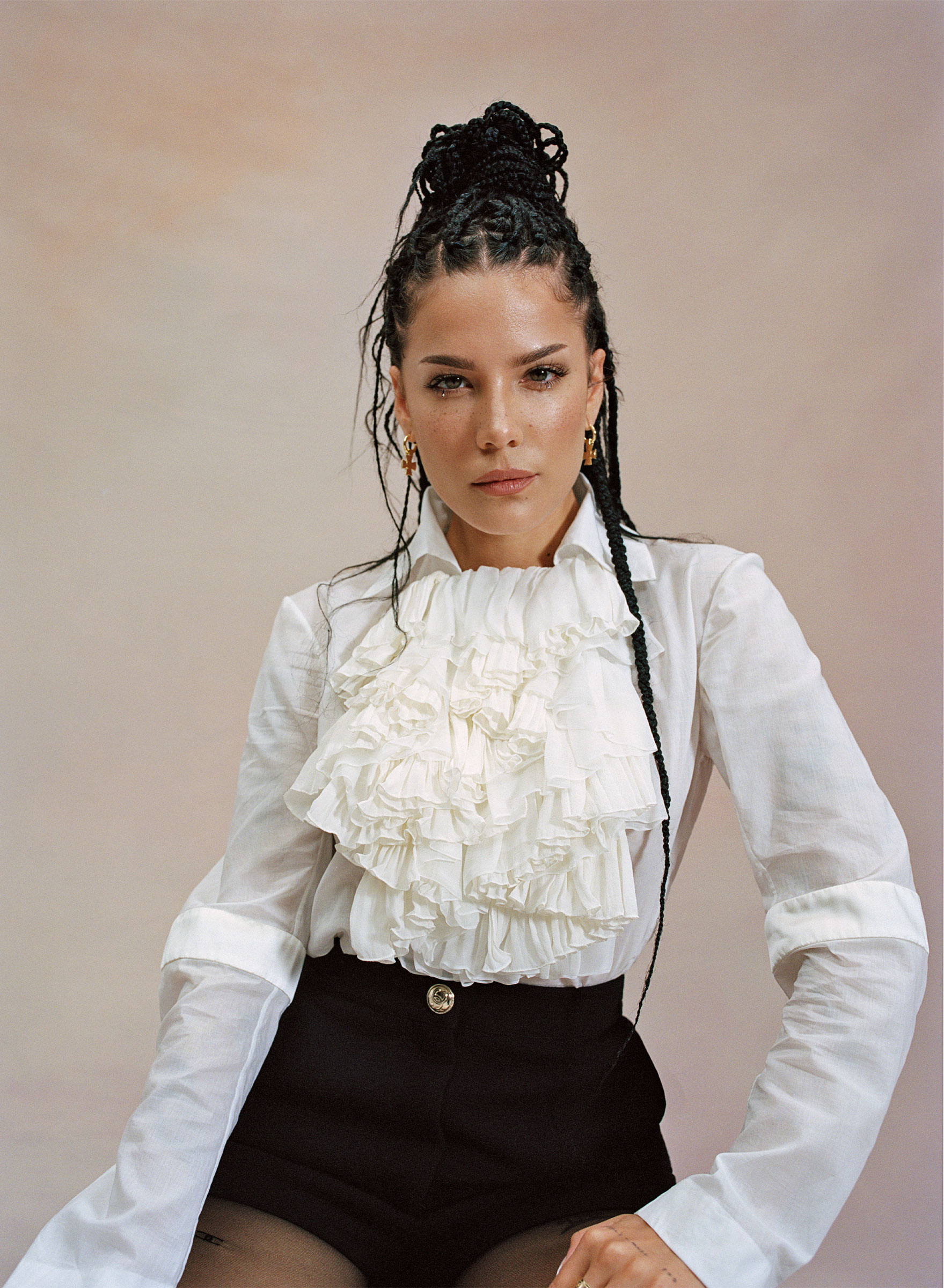 Halsey photographed in Los Angeles, Sept. 15, 2020.