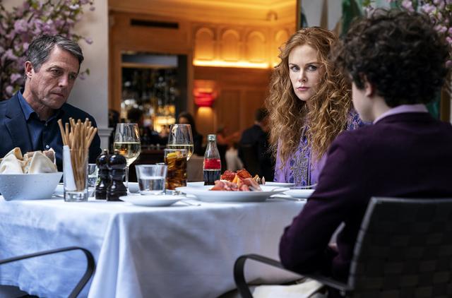 Noah Jupe, Nicole Kidman and Hugh Grant in 'The Undoing'