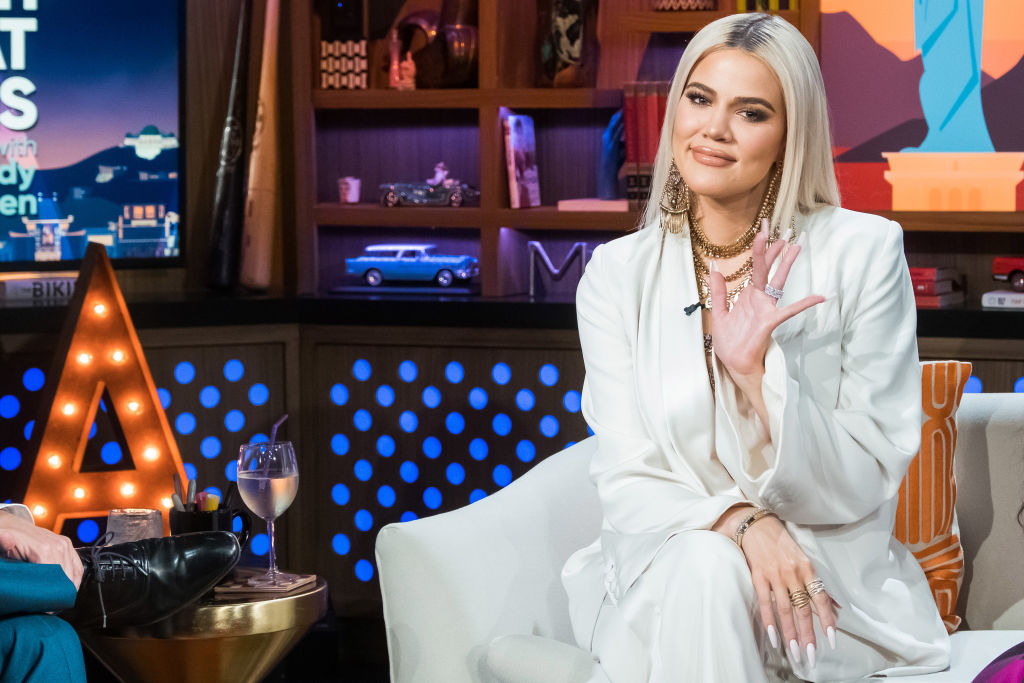 Khloe Kardashian appears on  Watch What Happens Live With Andy Cohen  on Jan. 14, 2019.