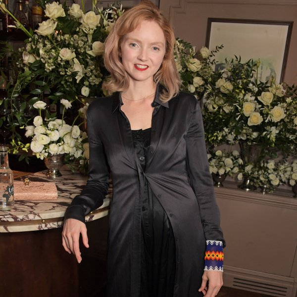 Lily Cole attends a dinner in London on Dec. 9, 2019.