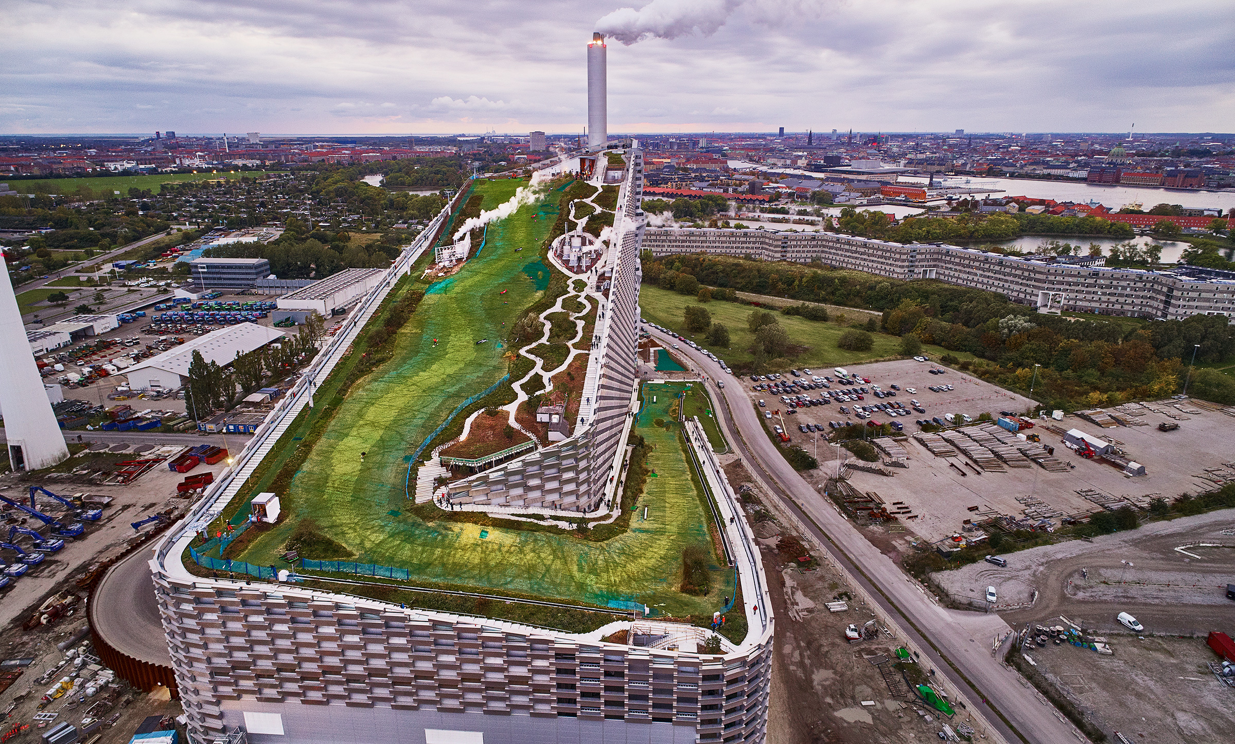 BIG's ski slope on top of a power plant, opened to the public in Copenhagen in October 2019, embodies Ingels' ethos of  hedonistic sustainability.